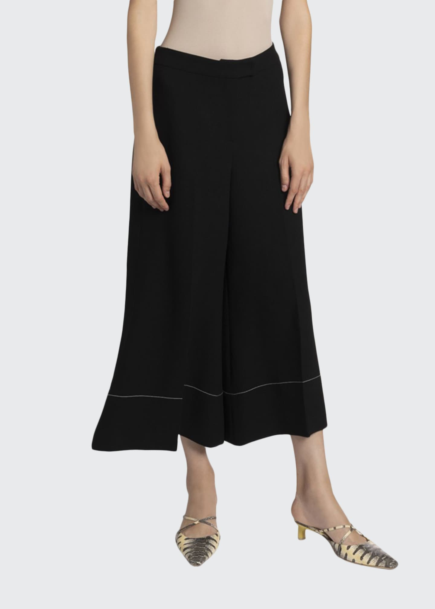 Image 1 of 2: Dora Cropped Flare Trousers