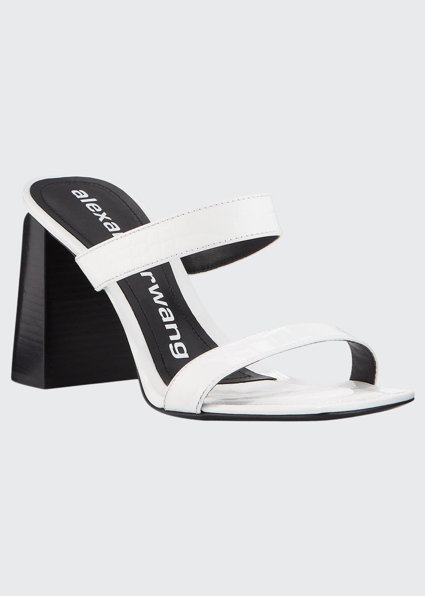 Alexander Wang Hayden Mock-Croc Leather Sandals