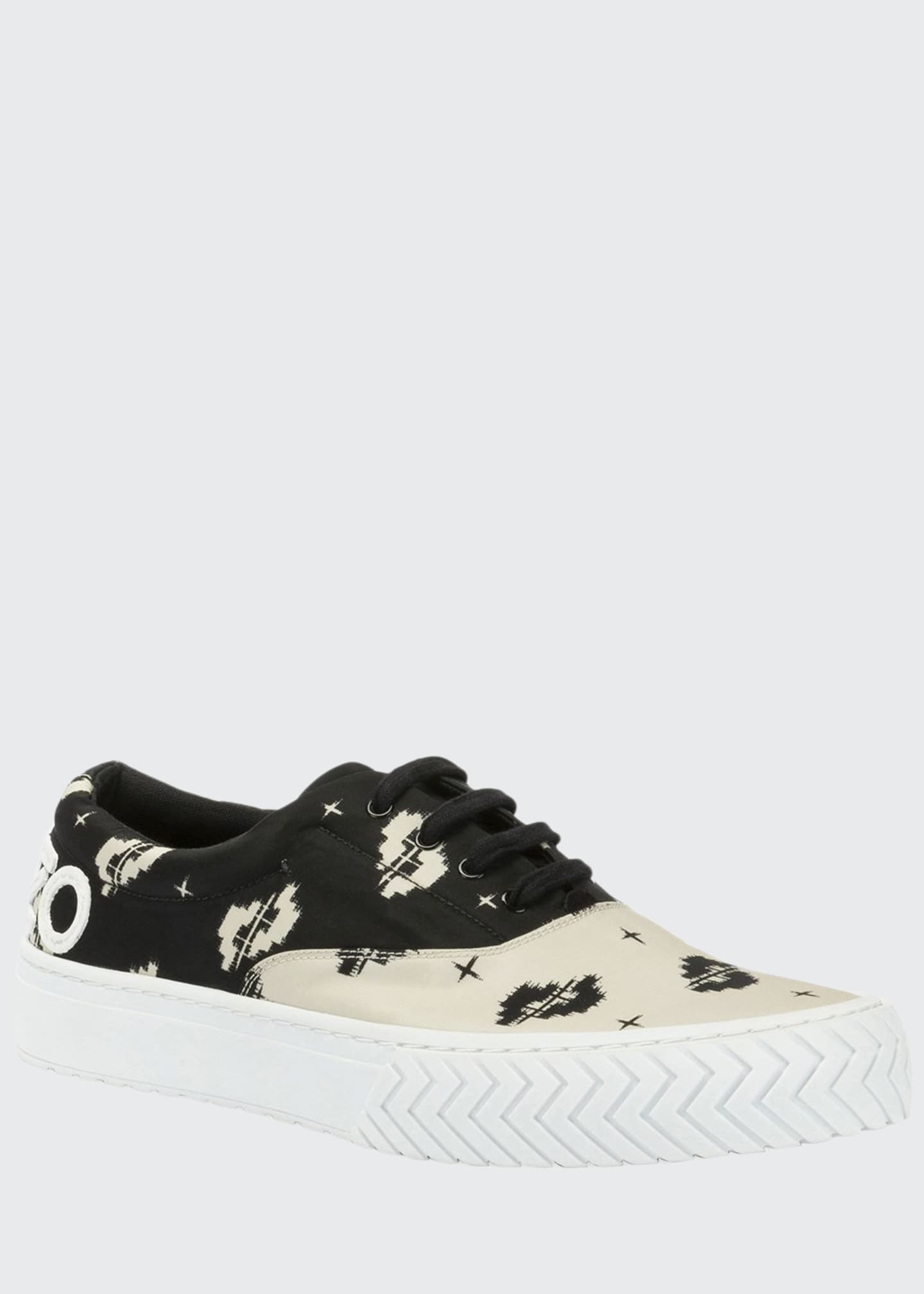 Image 1 of 4: Men's K-Skate Two-Tone Patterned Sneakers