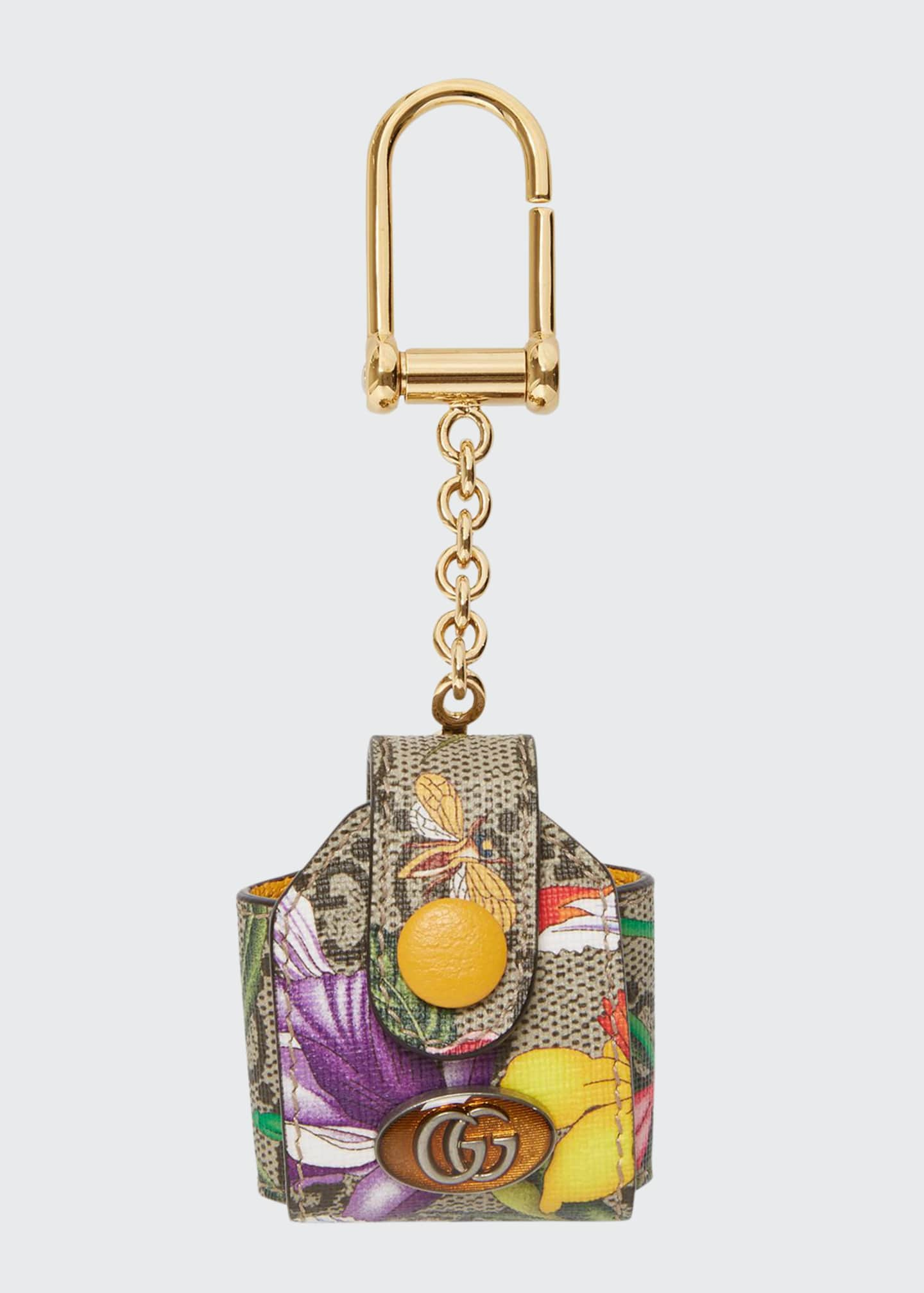 Gucci Ophidia GG Flora AirPods Keychain Case