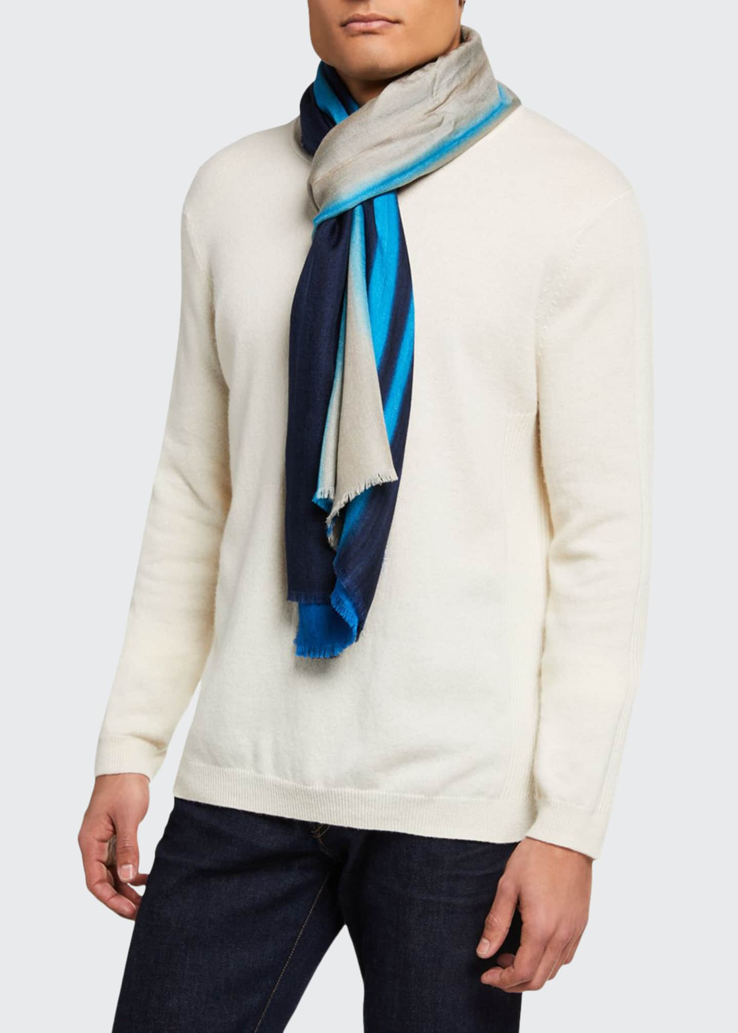 Men's Striped Cashmere-Blend Scarf