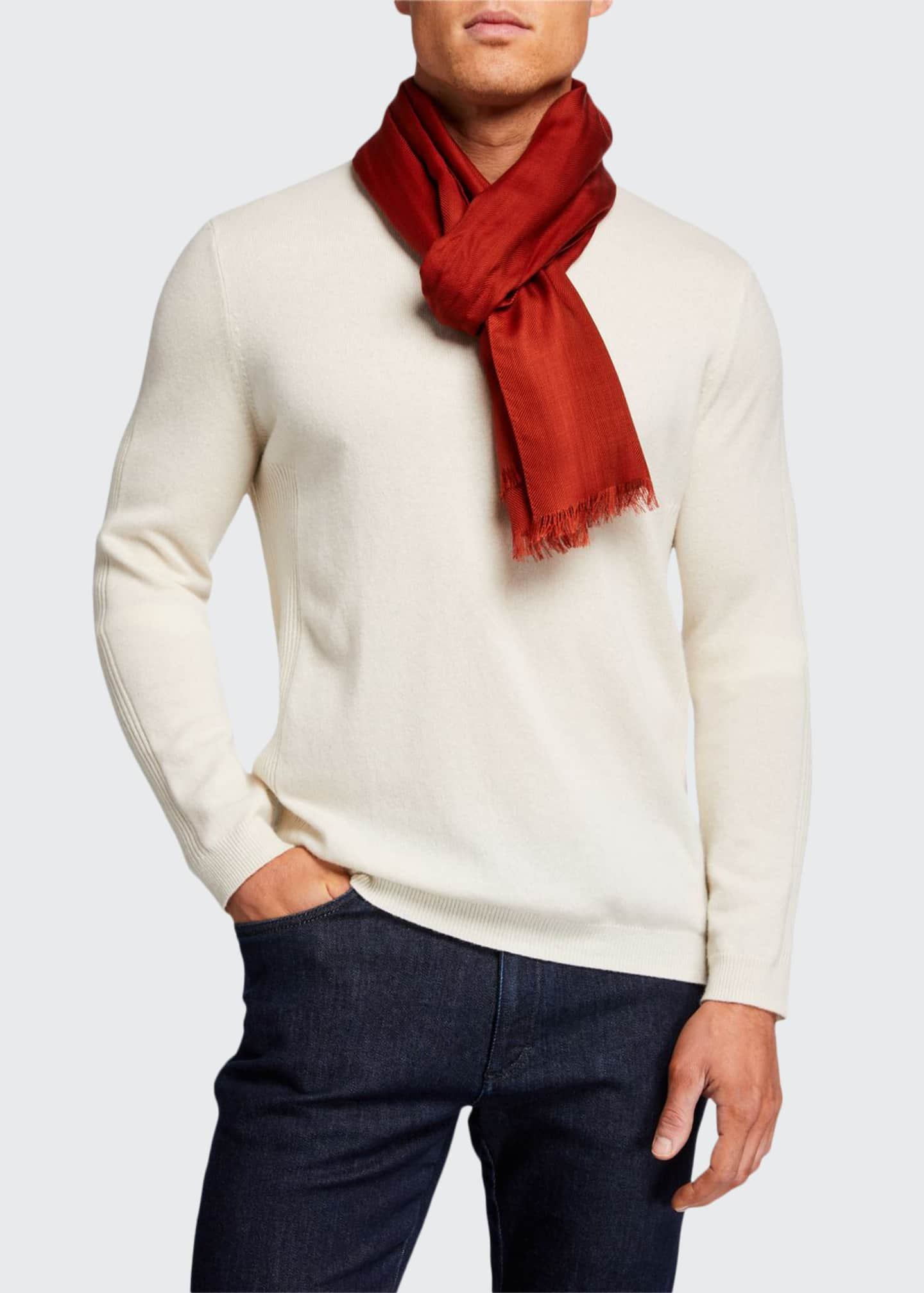 Image 1 of 2: Men's Sciarpa Cashmere Scarf