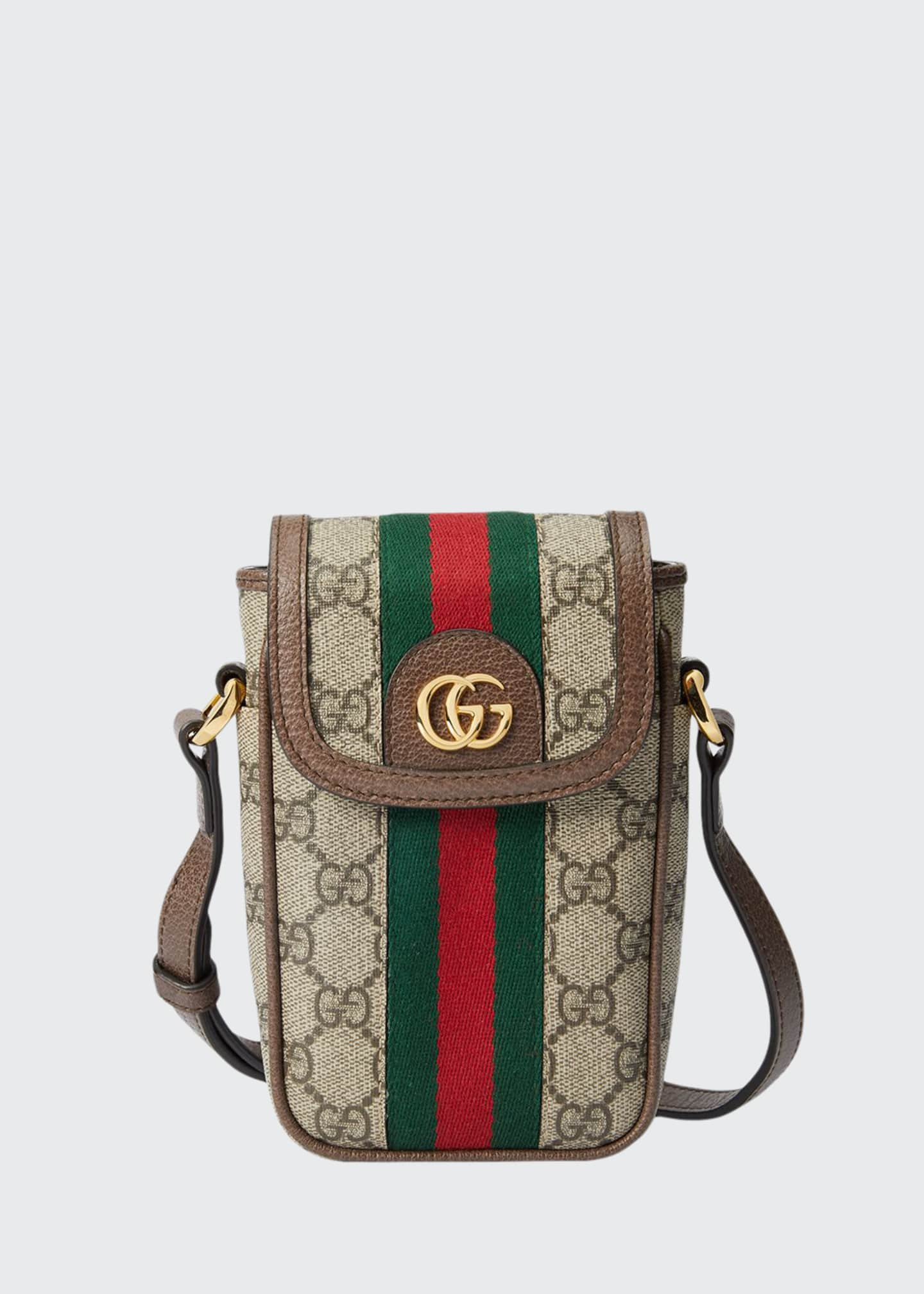 Gucci Ophidia GG Supreme Phone Case Crossbody Bag