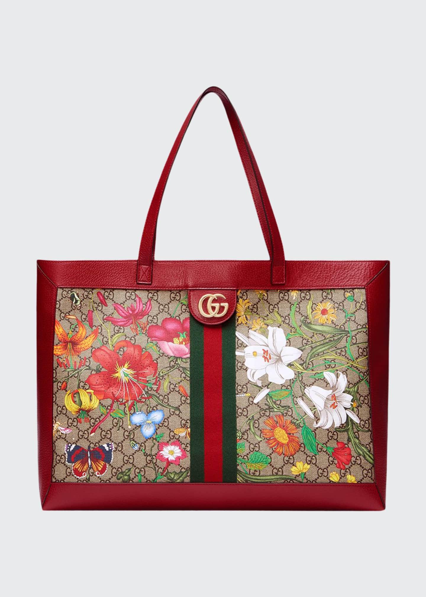 Gucci Ophidia Medium GG Flora Tote Bag