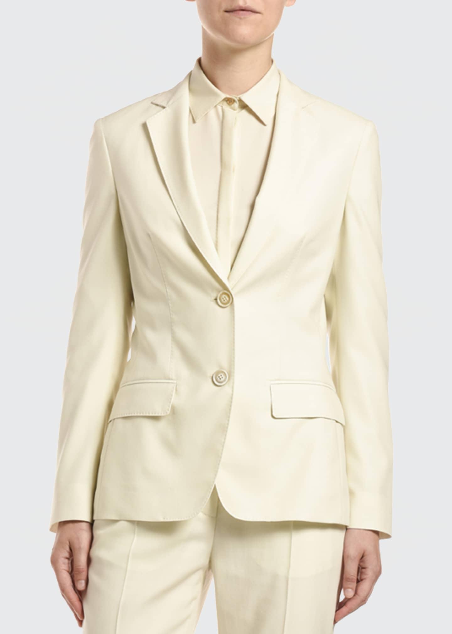 Agnona Single-Breasted Wool Jacket
