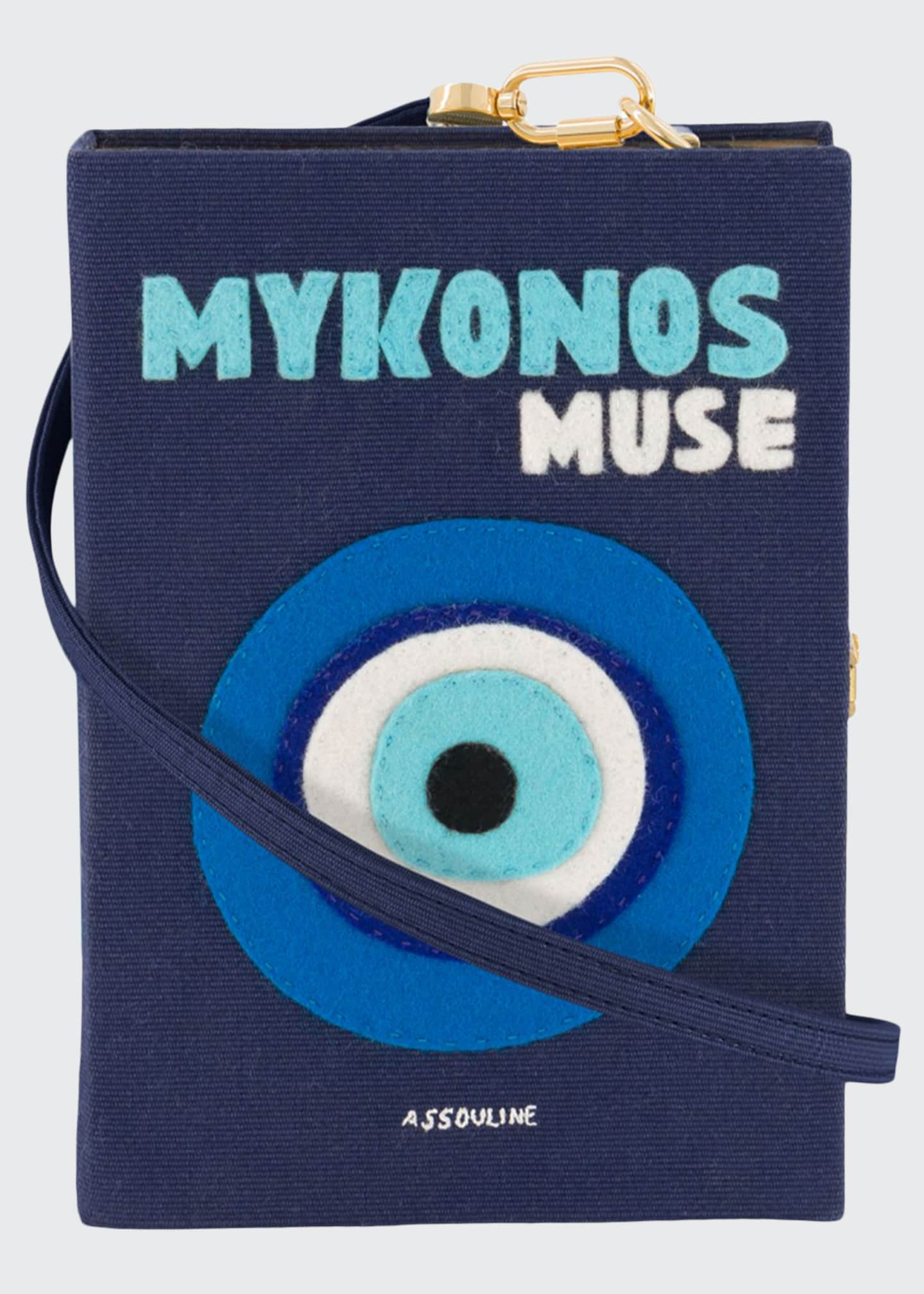 Image 1 of 1: Mykonos Strapped Book Clutch Bag