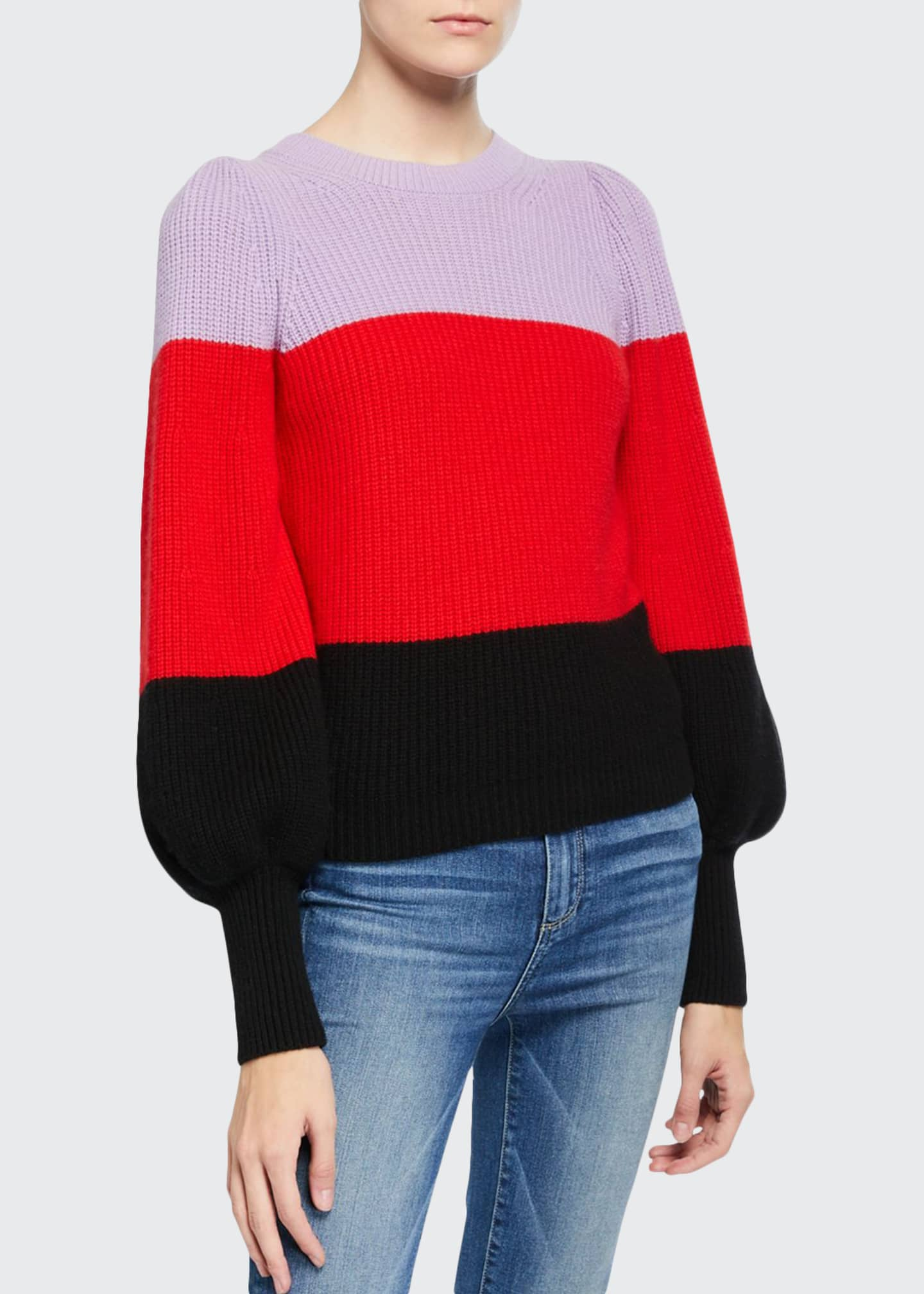 A.L.C. Sammy Colorblock Cashmere Sweater