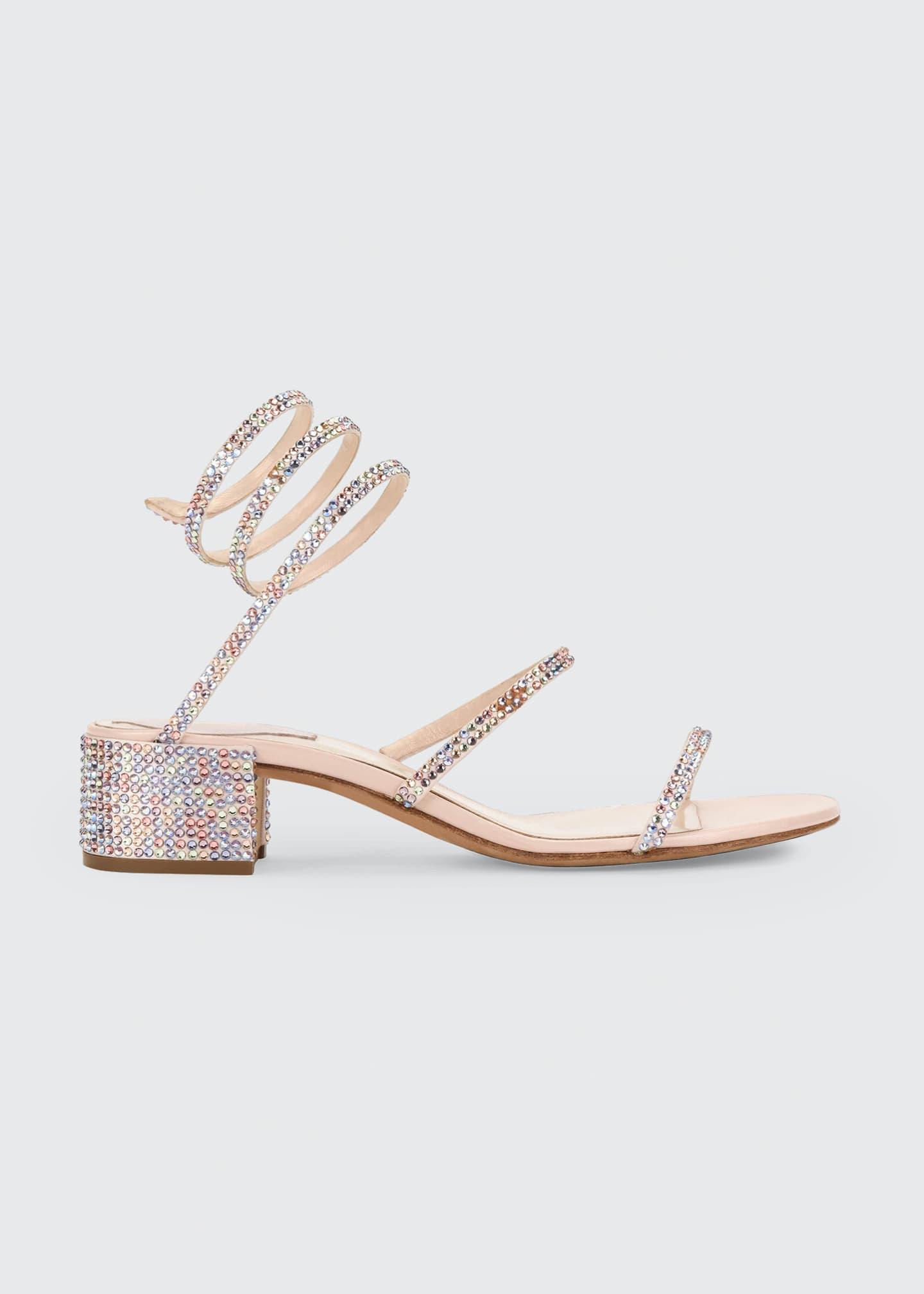 Rene Caovilla Crystal Snake 40mm Sandals