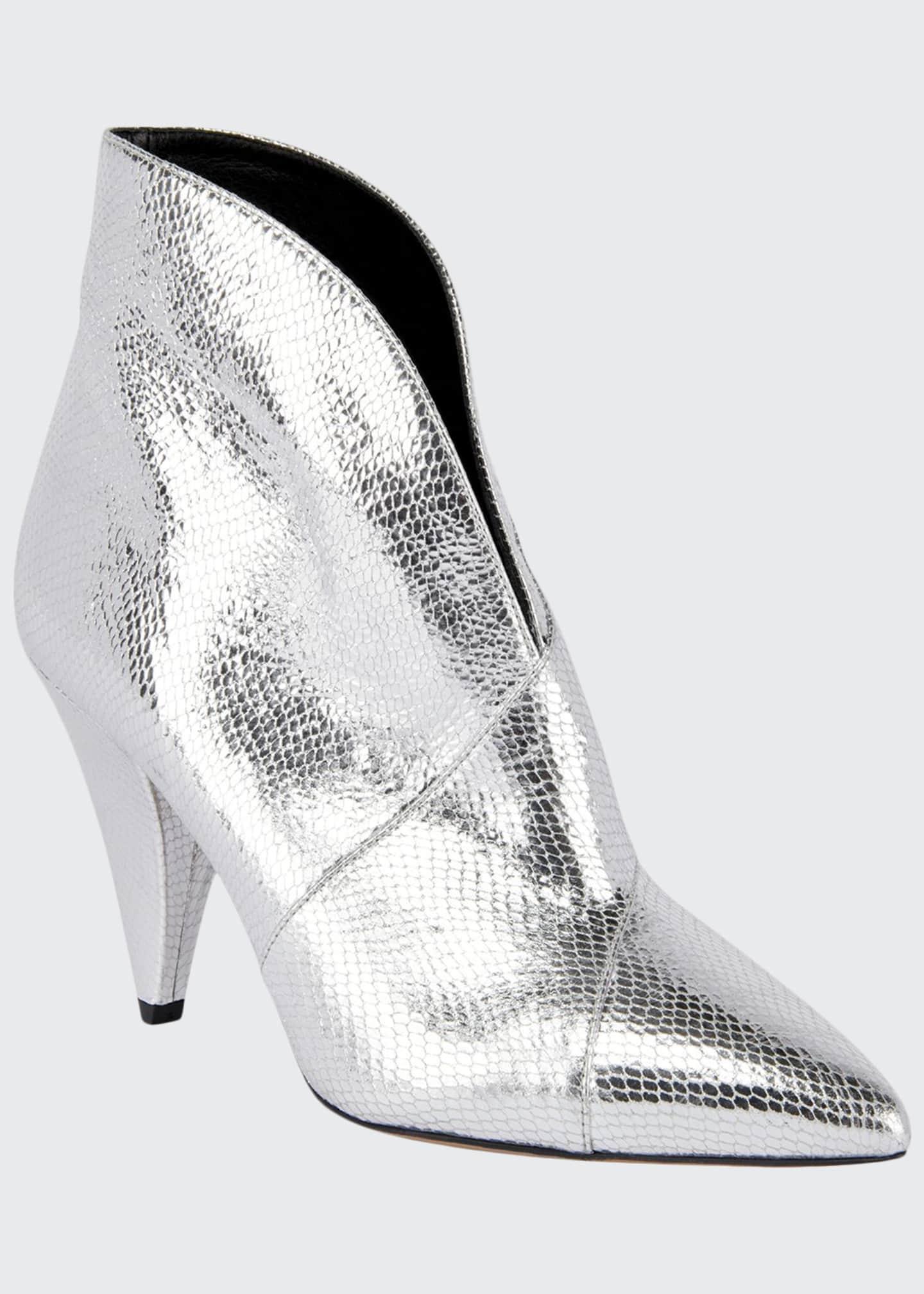 Isabel Marant Archenn Metallic Leather Booties
