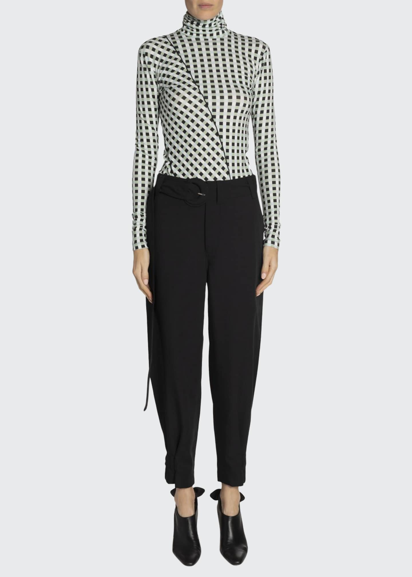 Proenza Schouler White Label Belted Tapered Ankle Pants
