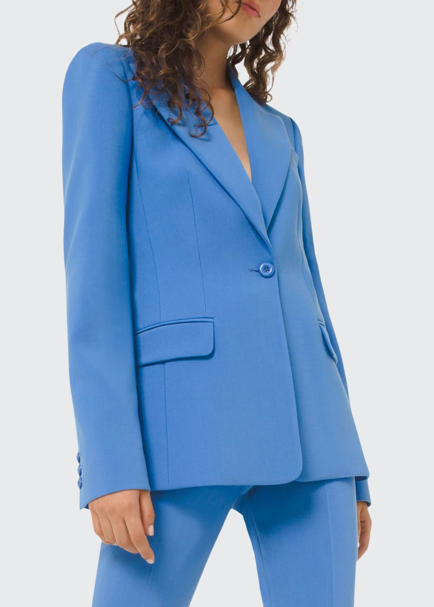 Image 1 of 2: One-Button Blazer