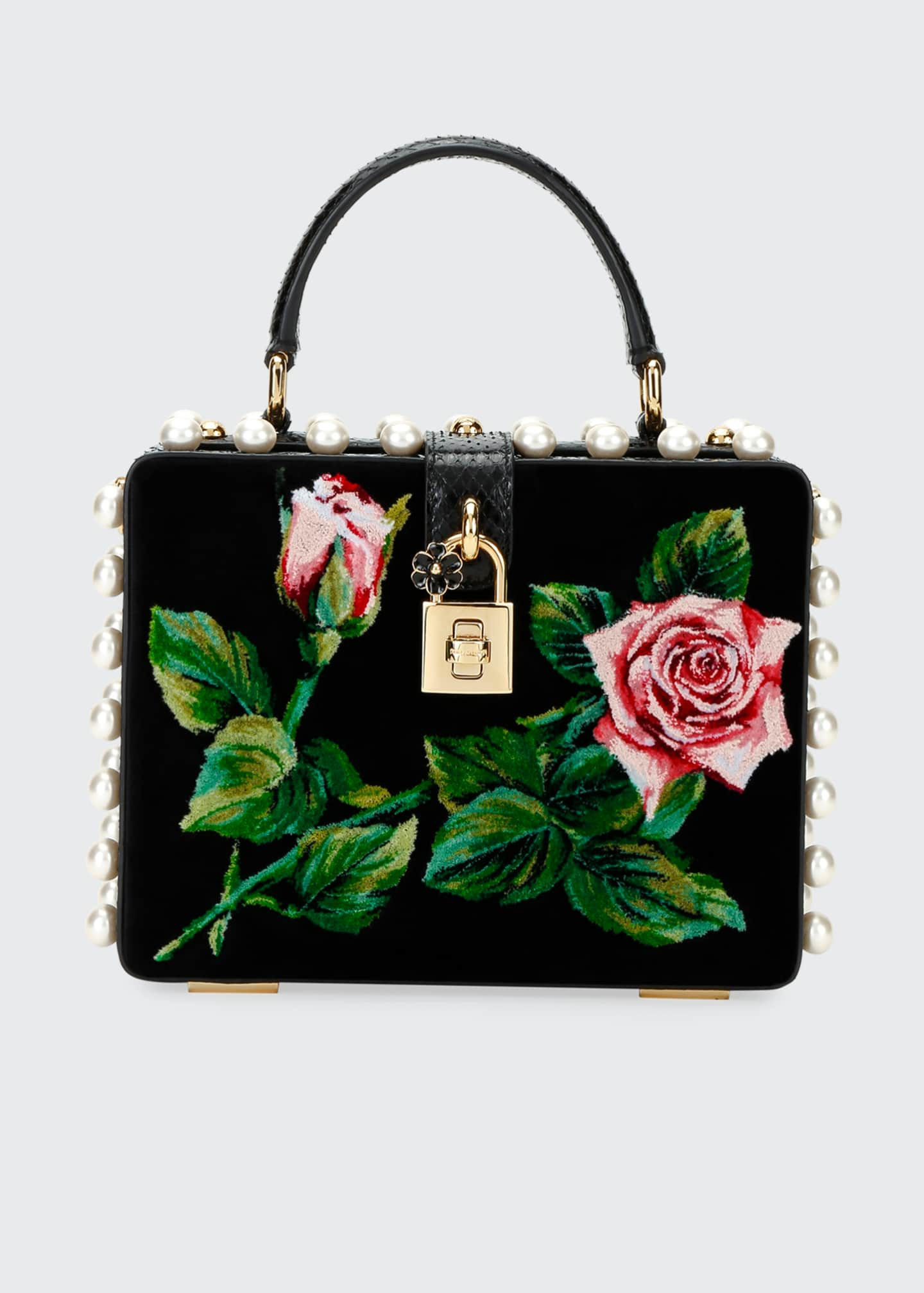 Image 1 of 3: Tropical Rose Mini Top-Handle Bag