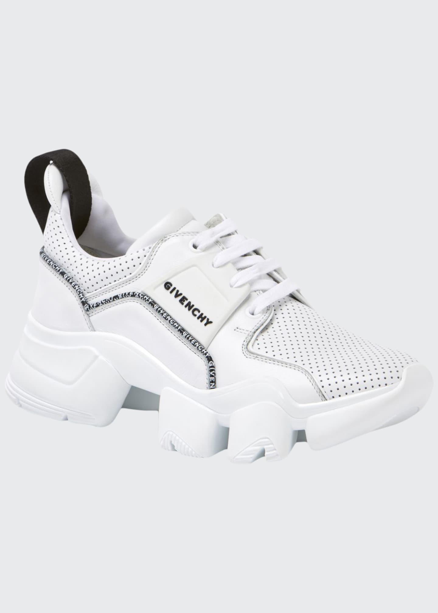 Givenchy Jaw Low-Top Perforated Leather Sneakers
