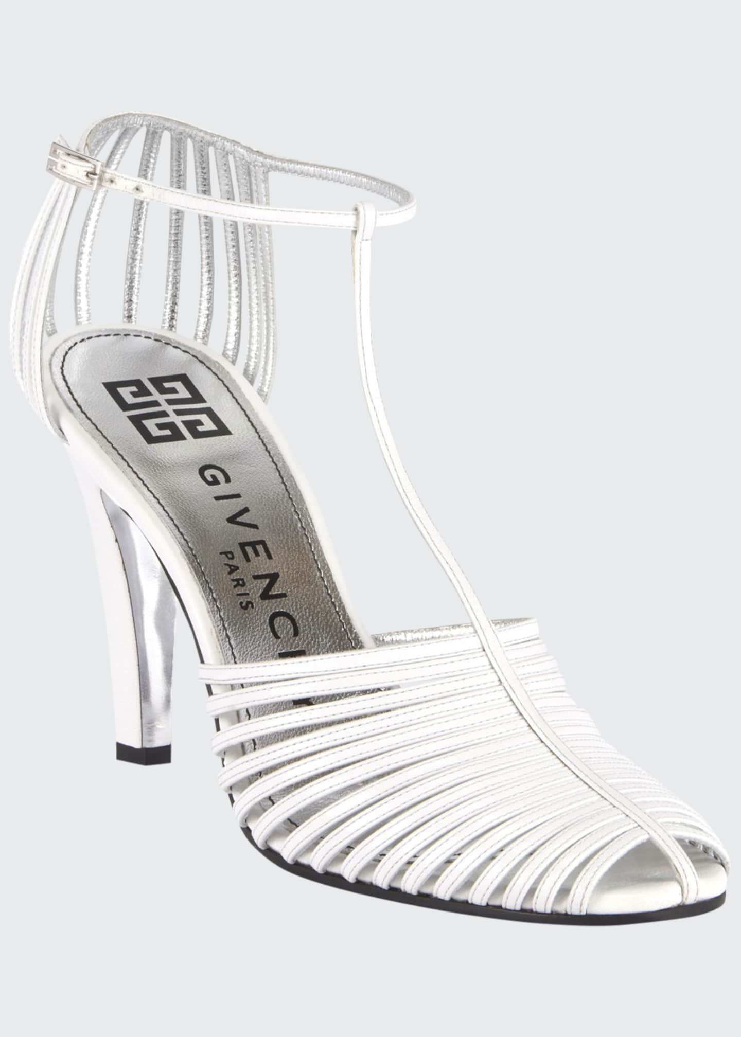 Givenchy Caged Strappy Pumps, Off White