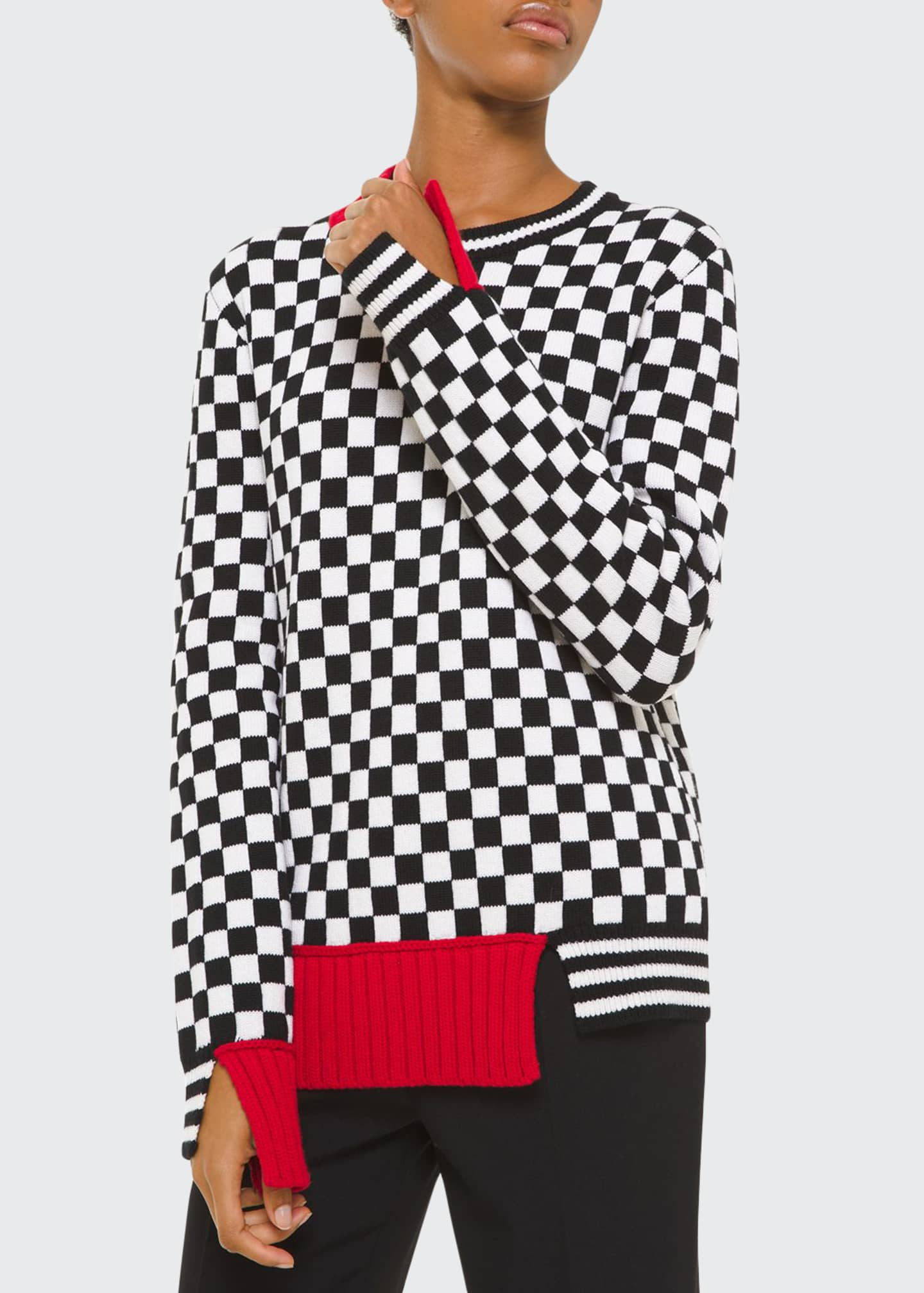 Michael Kors Collection Cashmere Checkerboard-Jacquard Sweater