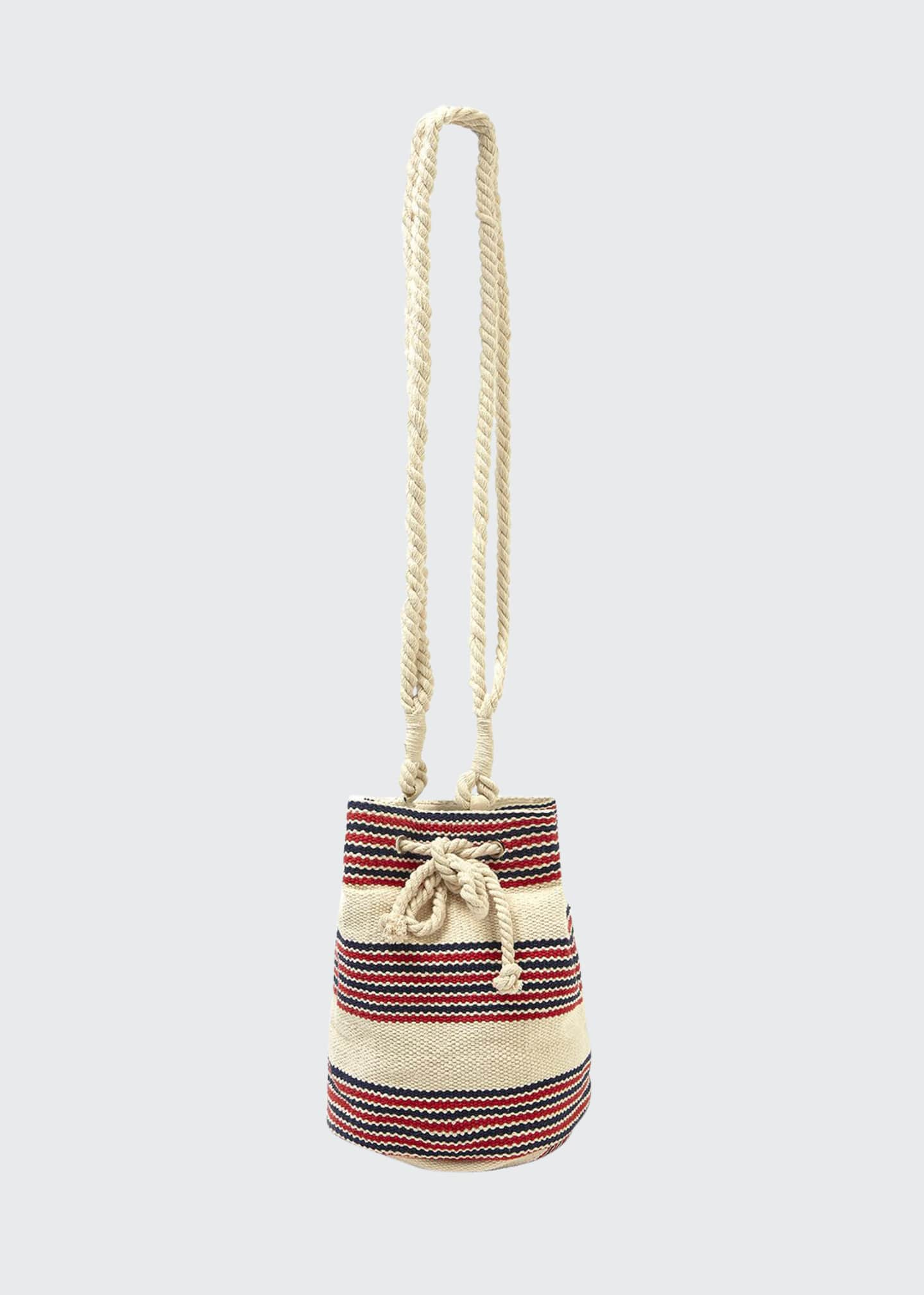 Seafolly Striped Canvas Beach Bucket Bag