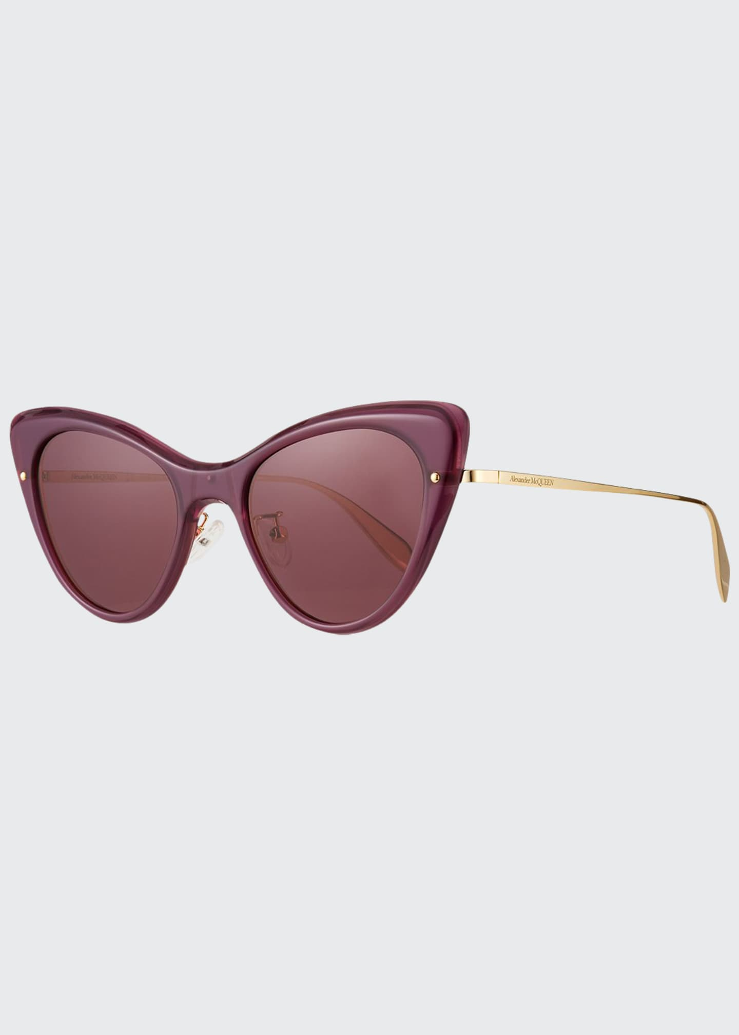 Alexander McQueen Cat-Eye Acetate Sunglasses