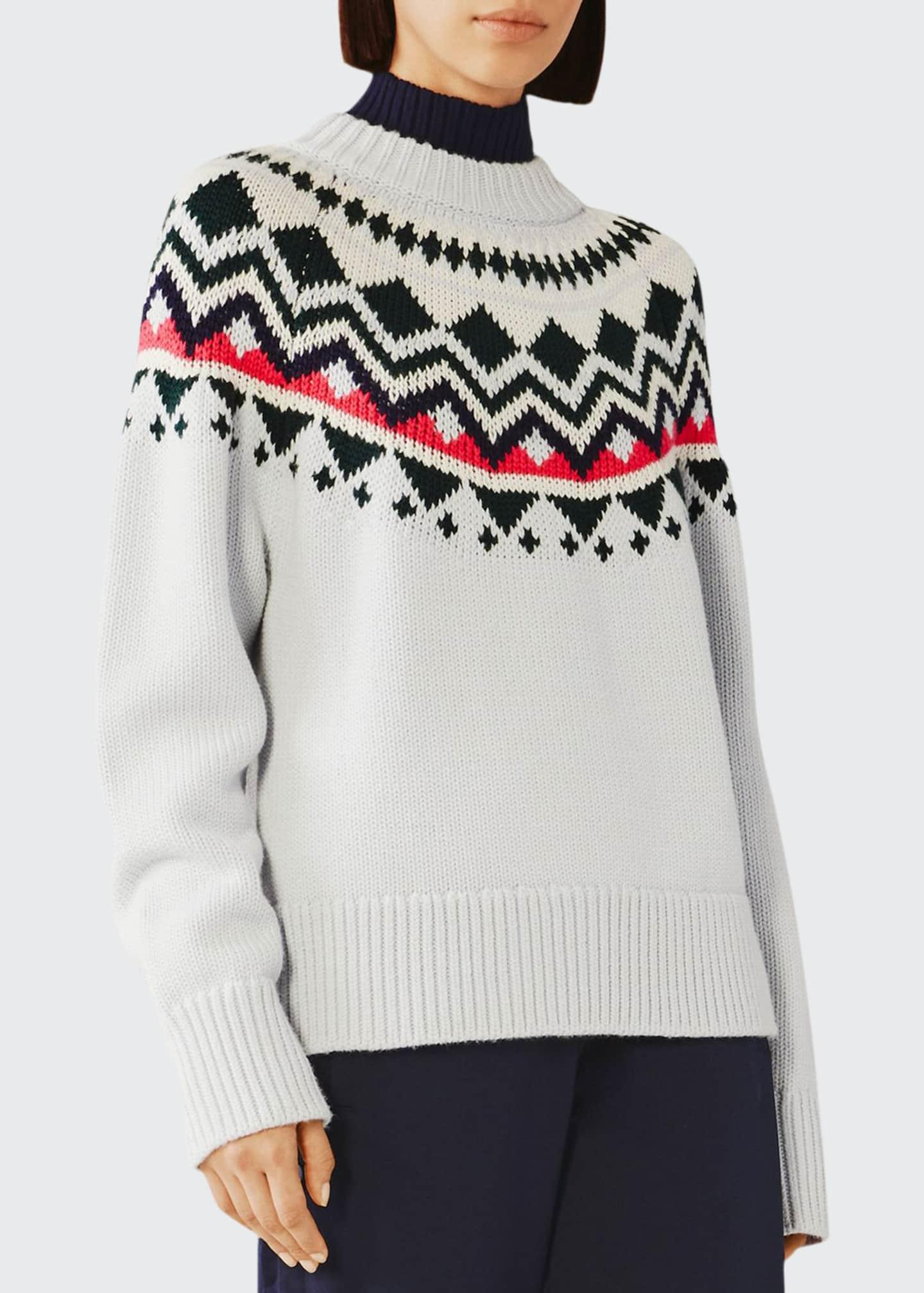 Tory Sport Engineered Fair Isle Merino Sweater