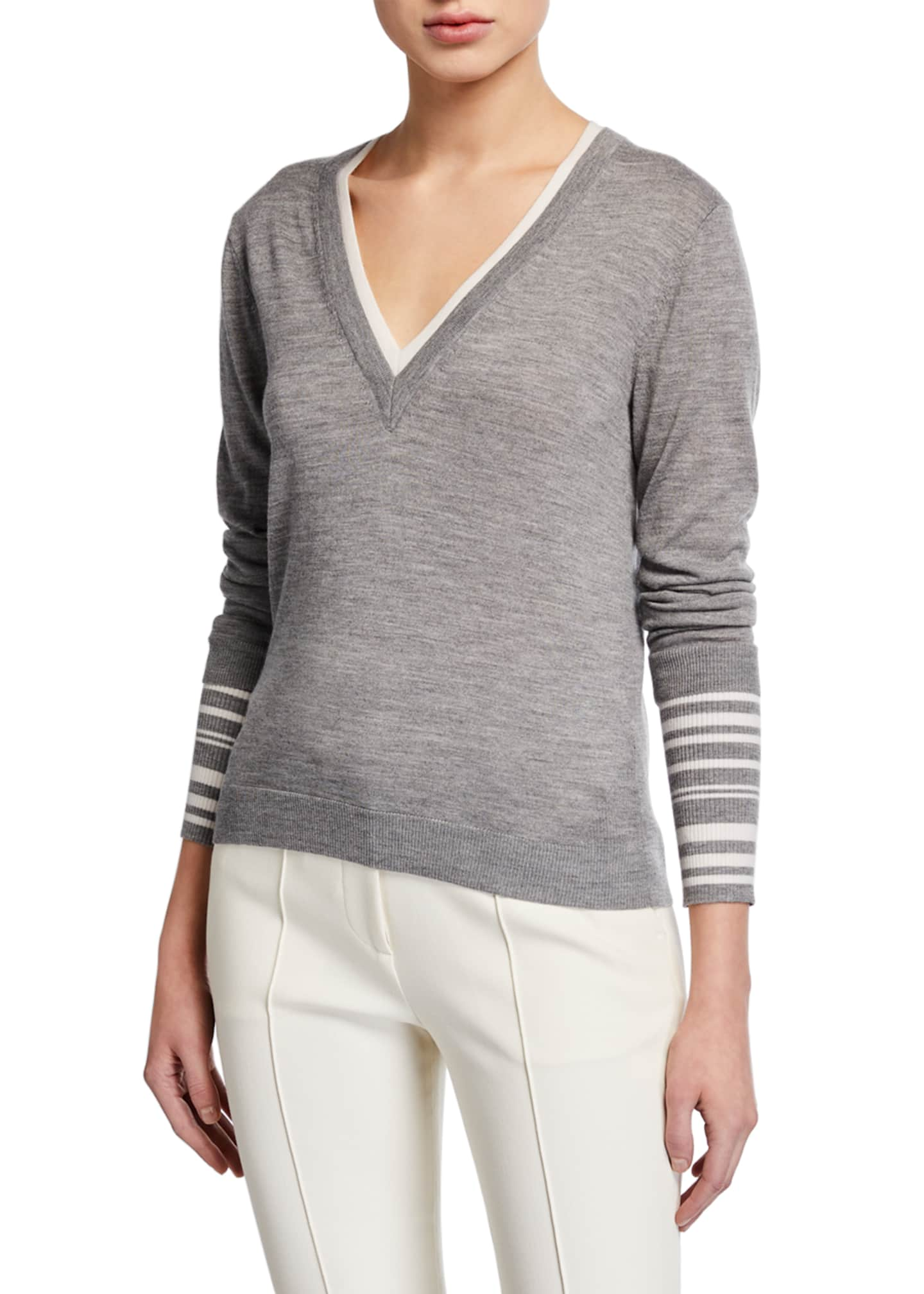 Image 1 of 3: Avory V-Neck Sweater