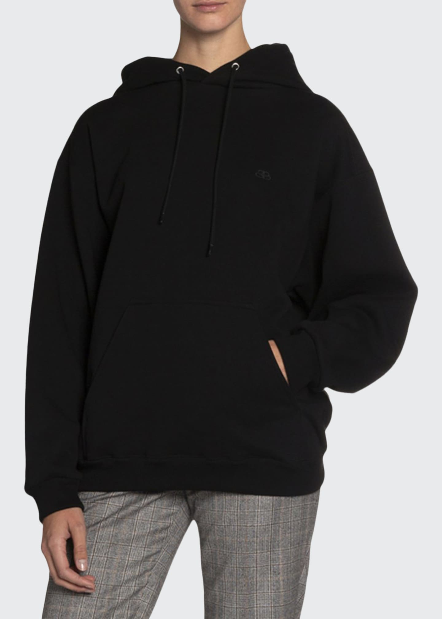 Balenciaga Logo-Embroidered Hooded Sweatshirt