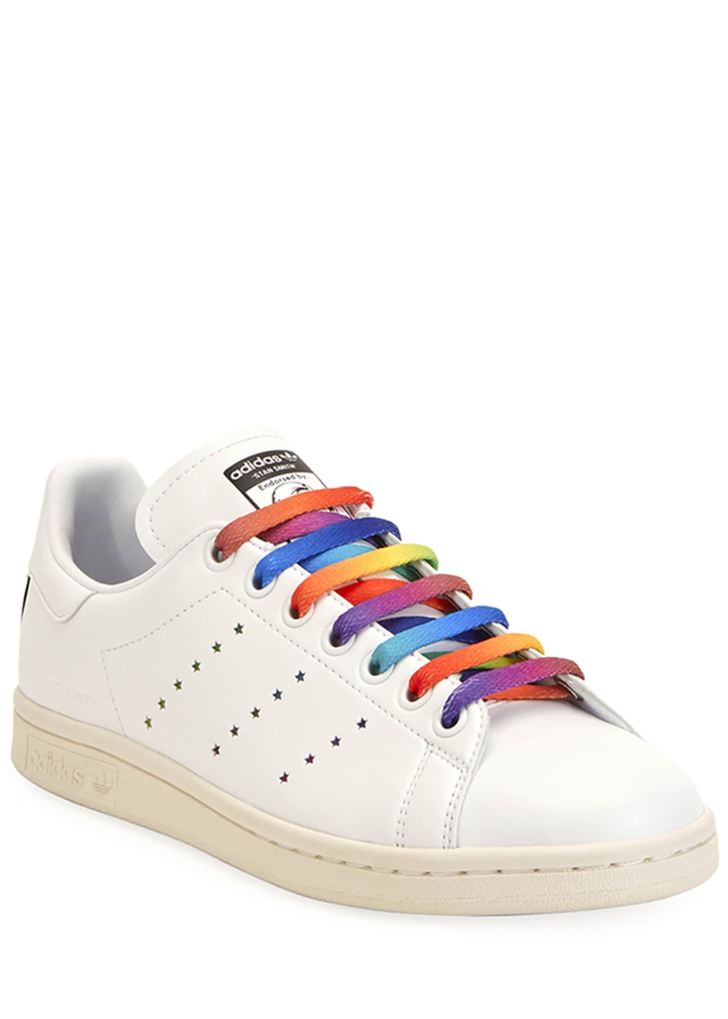 Image 1 of 3: Stan Smith Sneakers with Rainbow Laces
