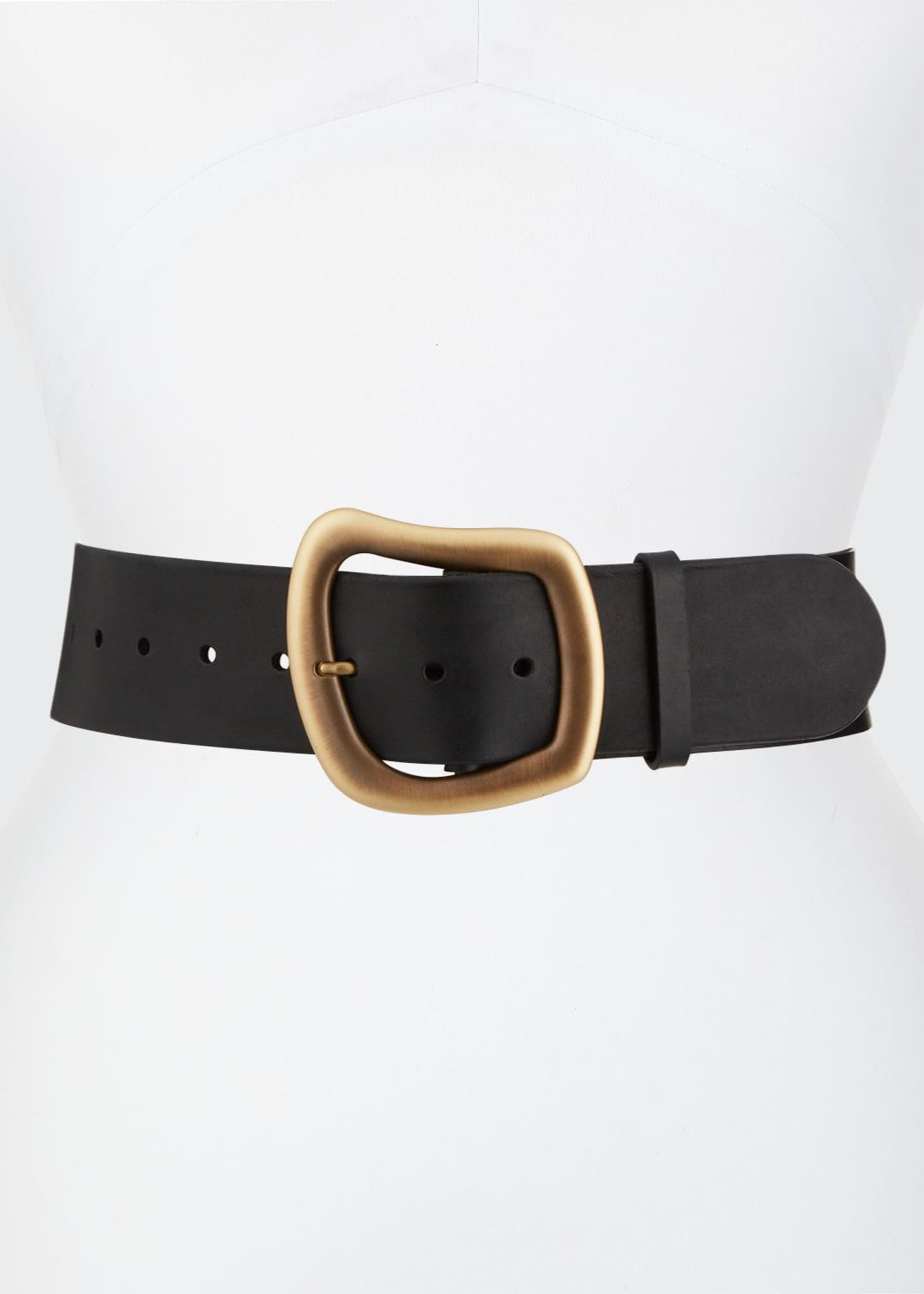Gabriela Hearst Simone Geometric-Buckle Belt