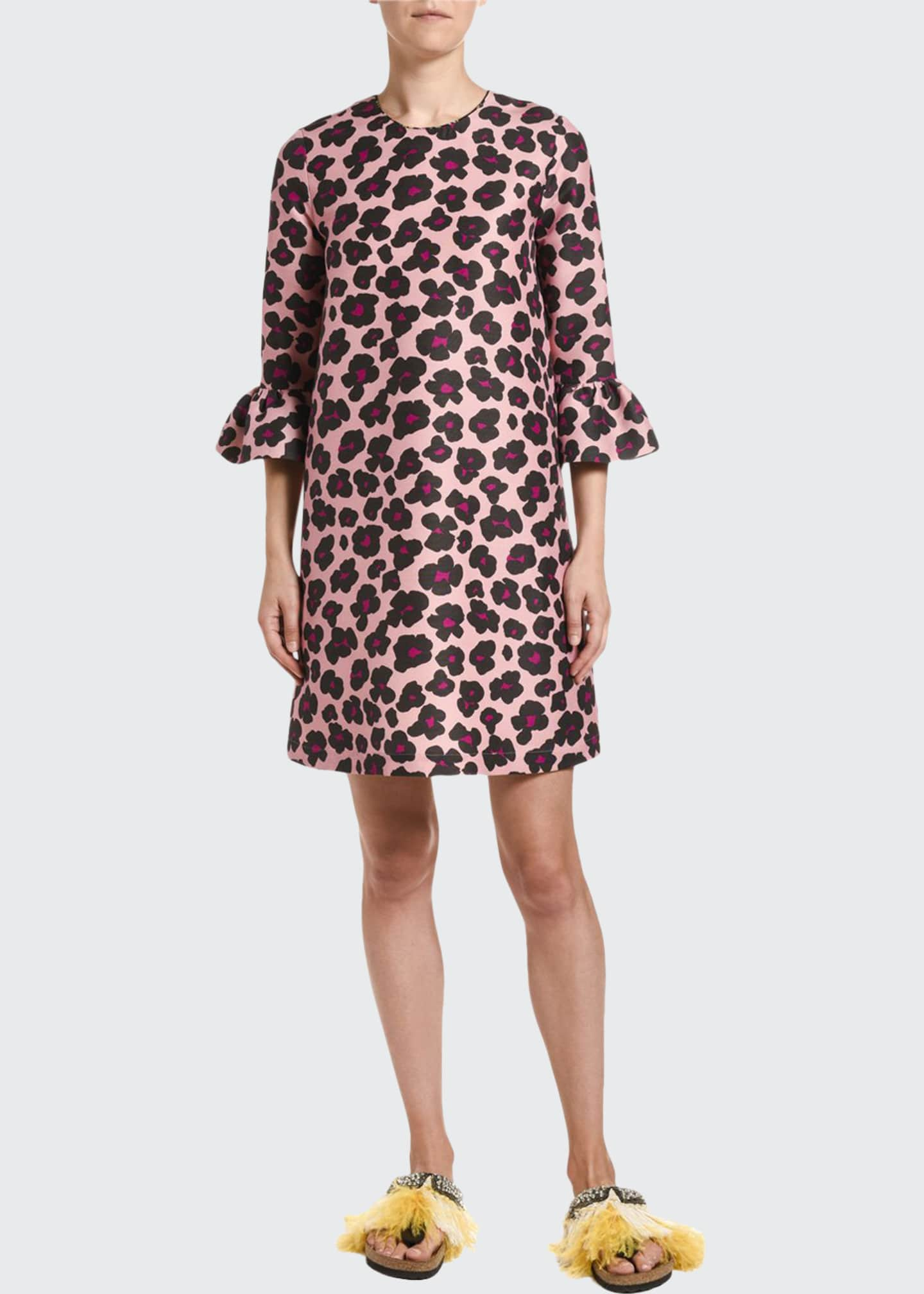 Image 1 of 2: 24/7 Animal-Print Cady Dress