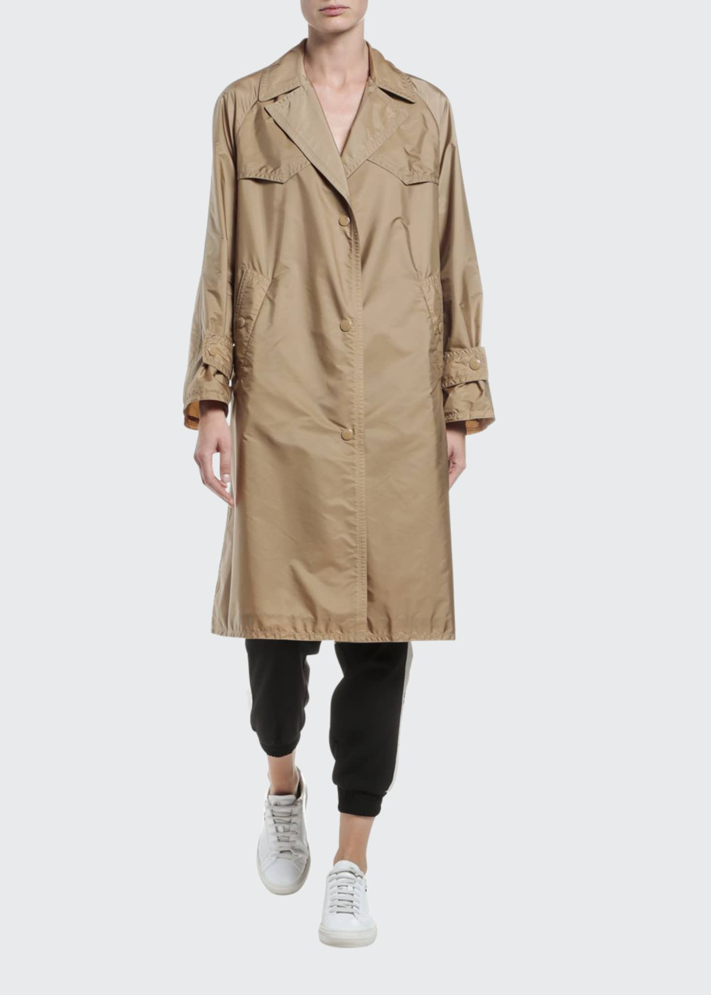Image 1 of 4: Vanille Long Raincoat
