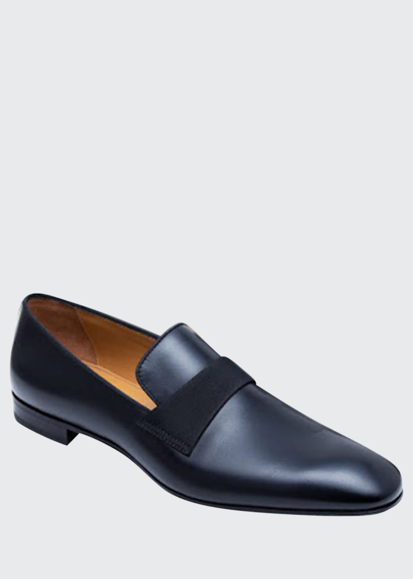 Image 1 of 5: Men's Heron Smooth Leather Loafers