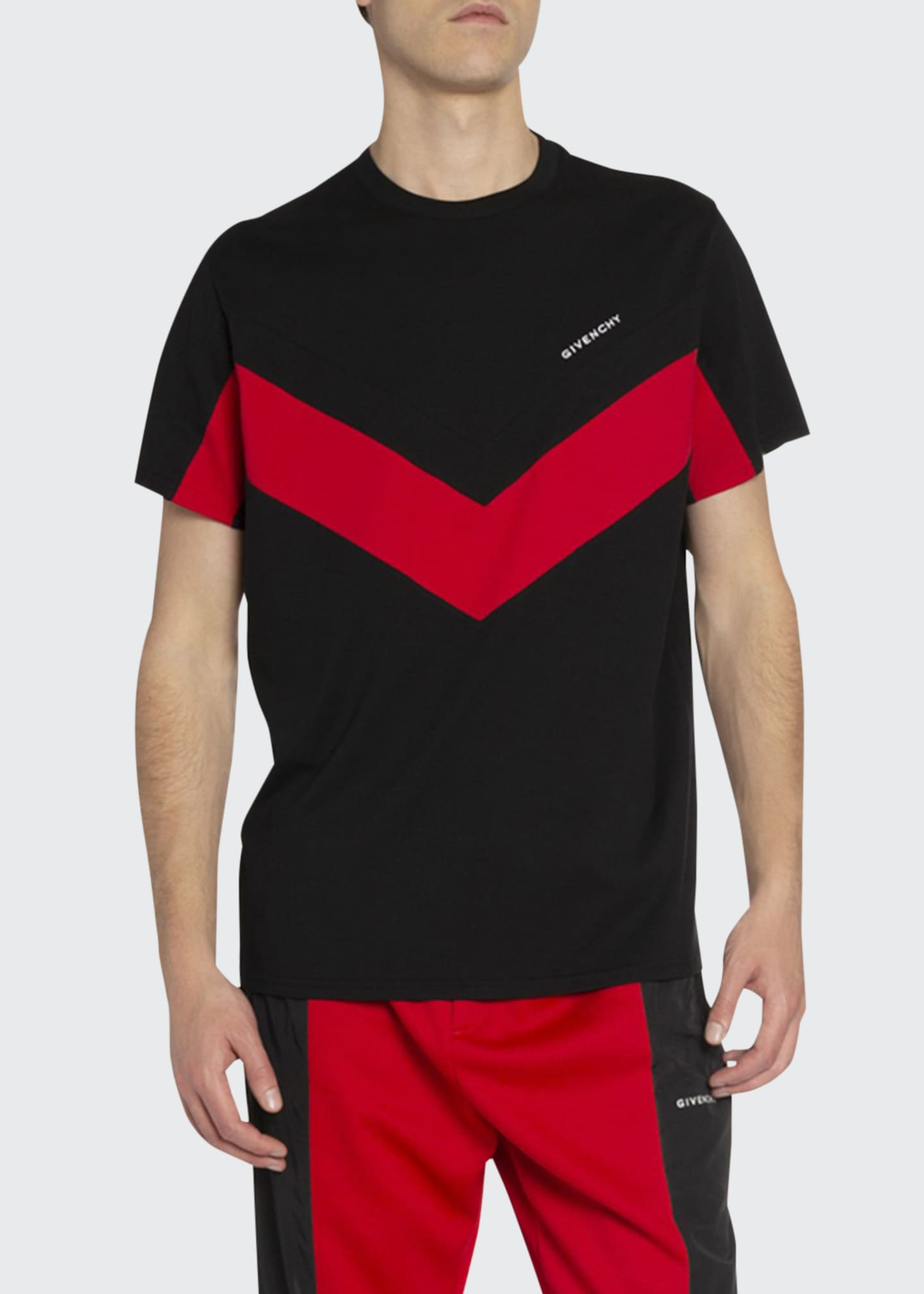 Image 1 of 2: Men's Banded Sporty T-Shirt