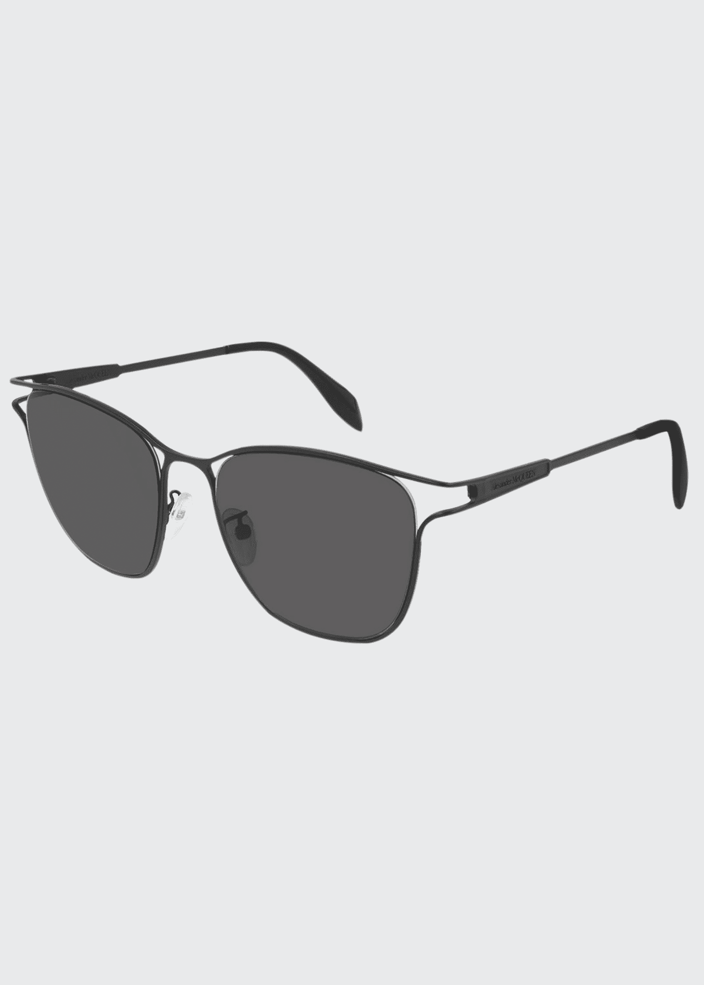 Alexander McQueen Square Metal Cutout Sunglasses