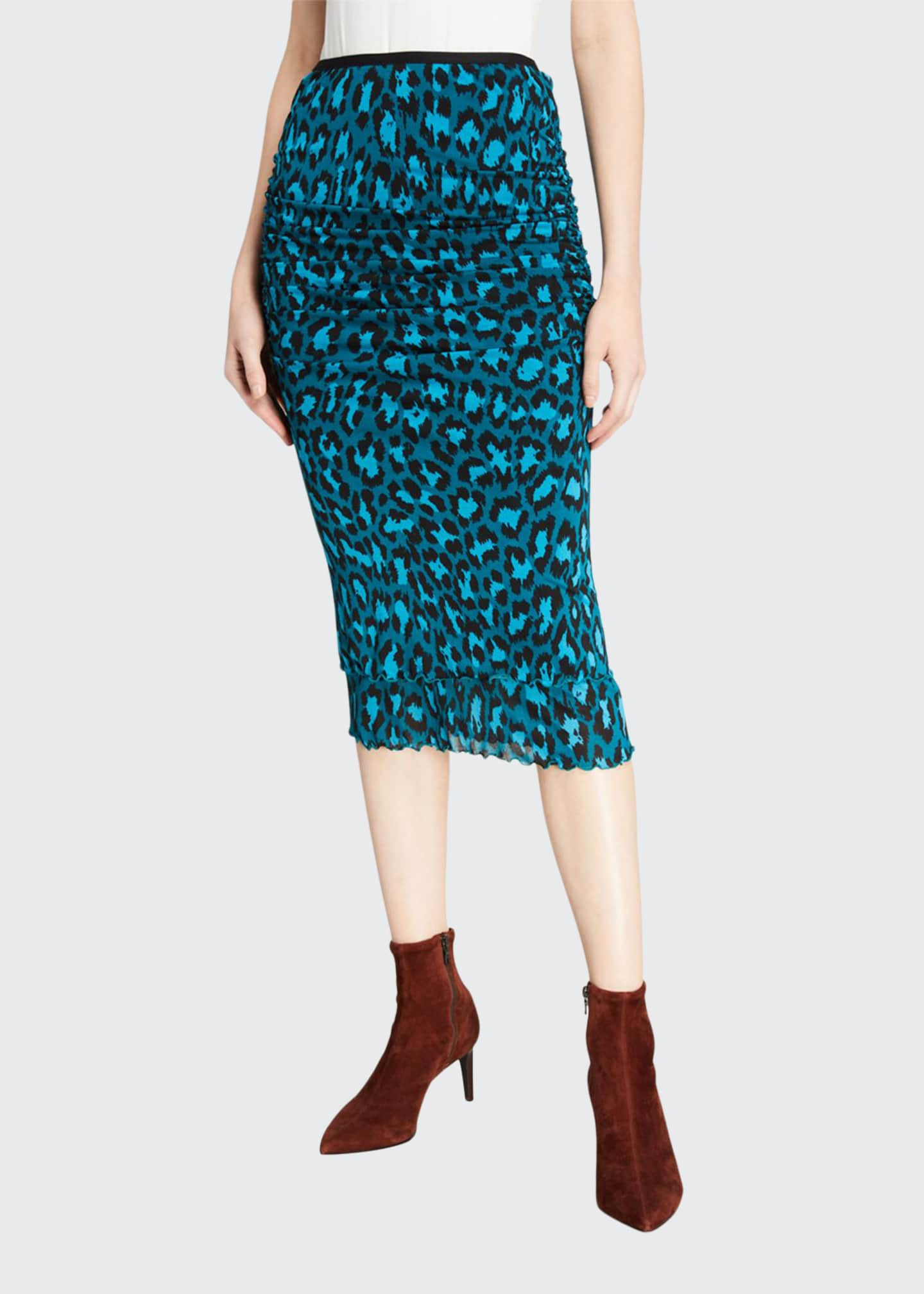 Diane von Furstenberg Elaine Leopard Printed Pencil Skirt