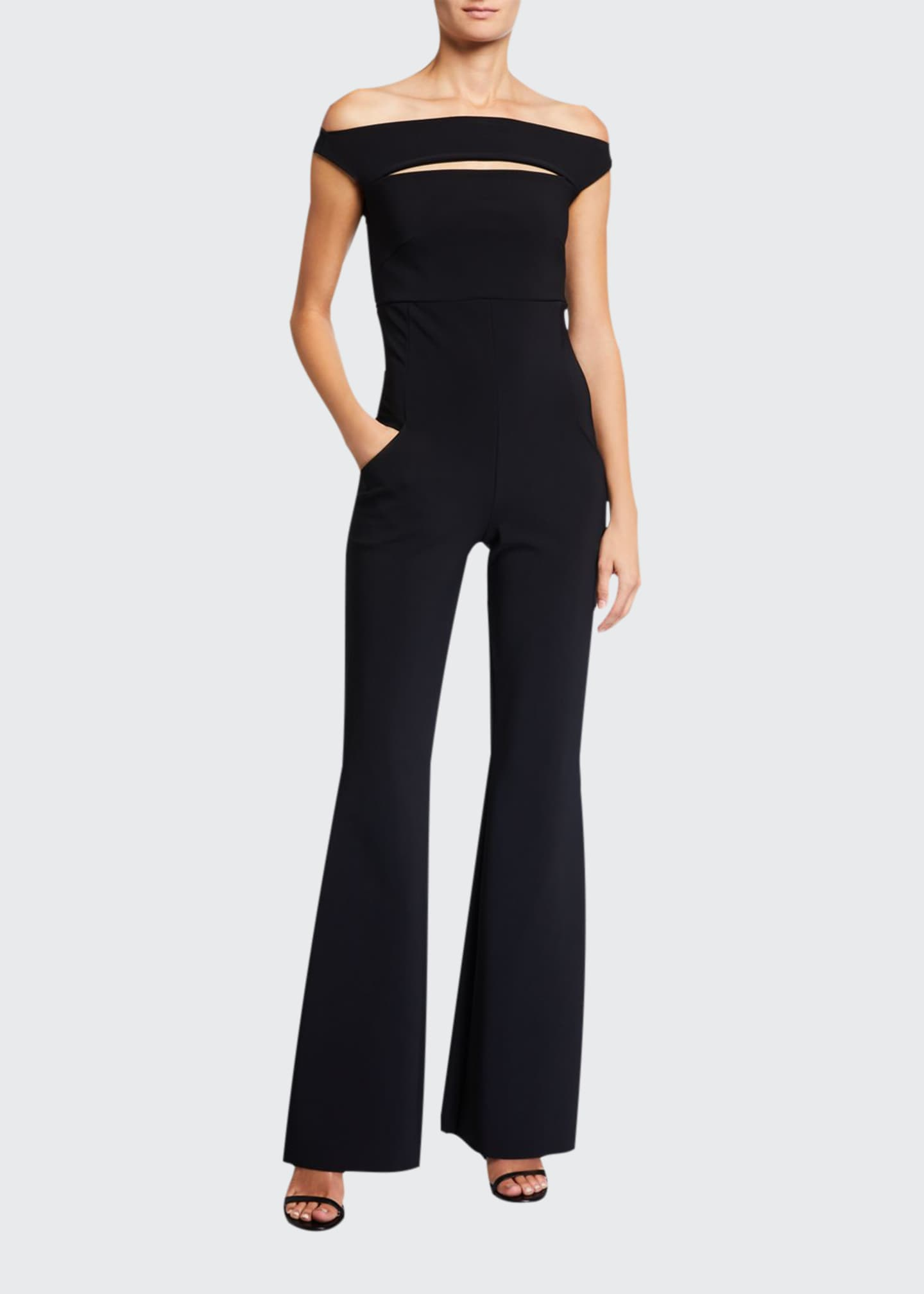 Chiara Boni La Petite Robe Rebecca Slash-Neck Jumpsuit
