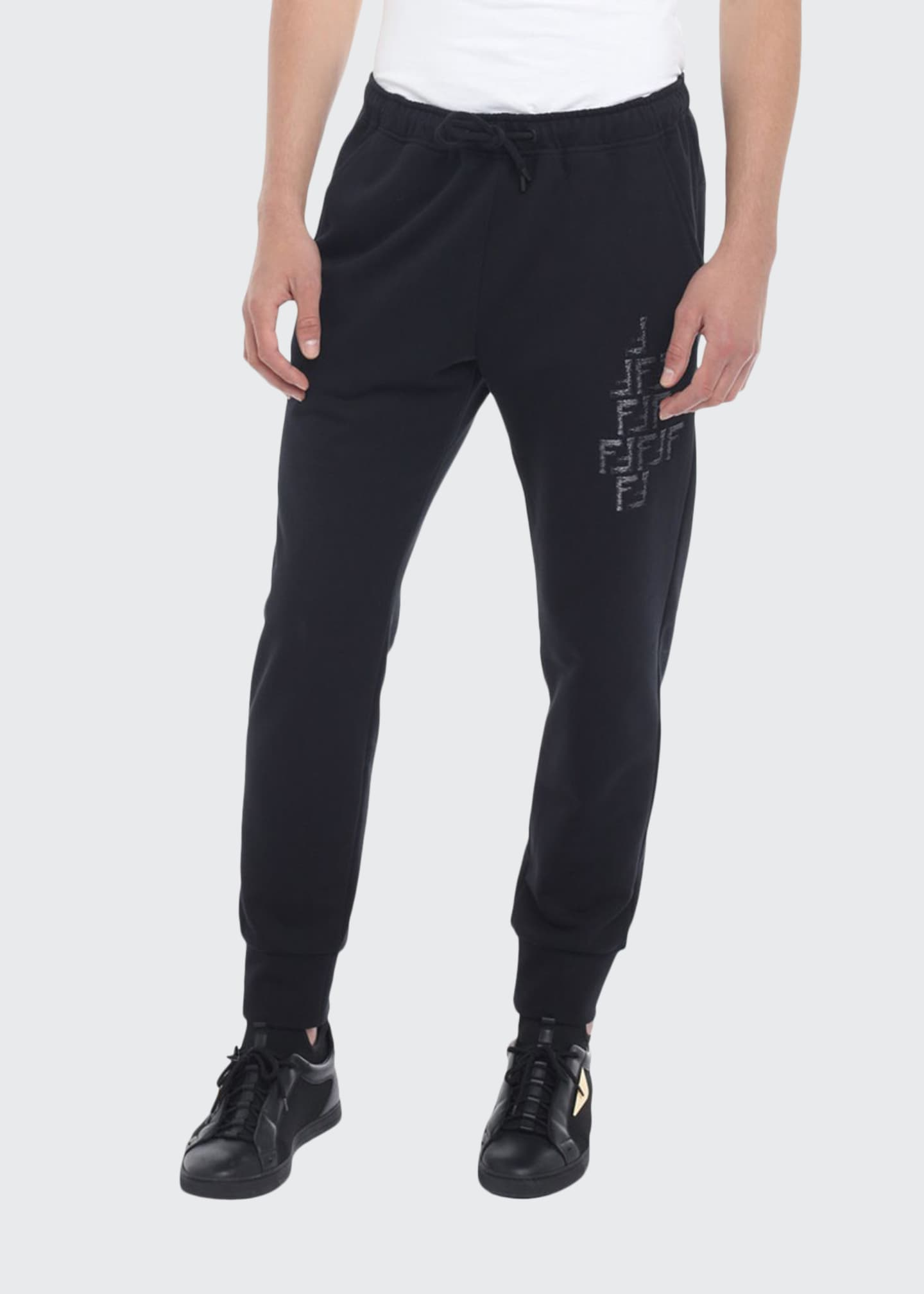 Image 1 of 2: Men's Faded-FF Sweatpants