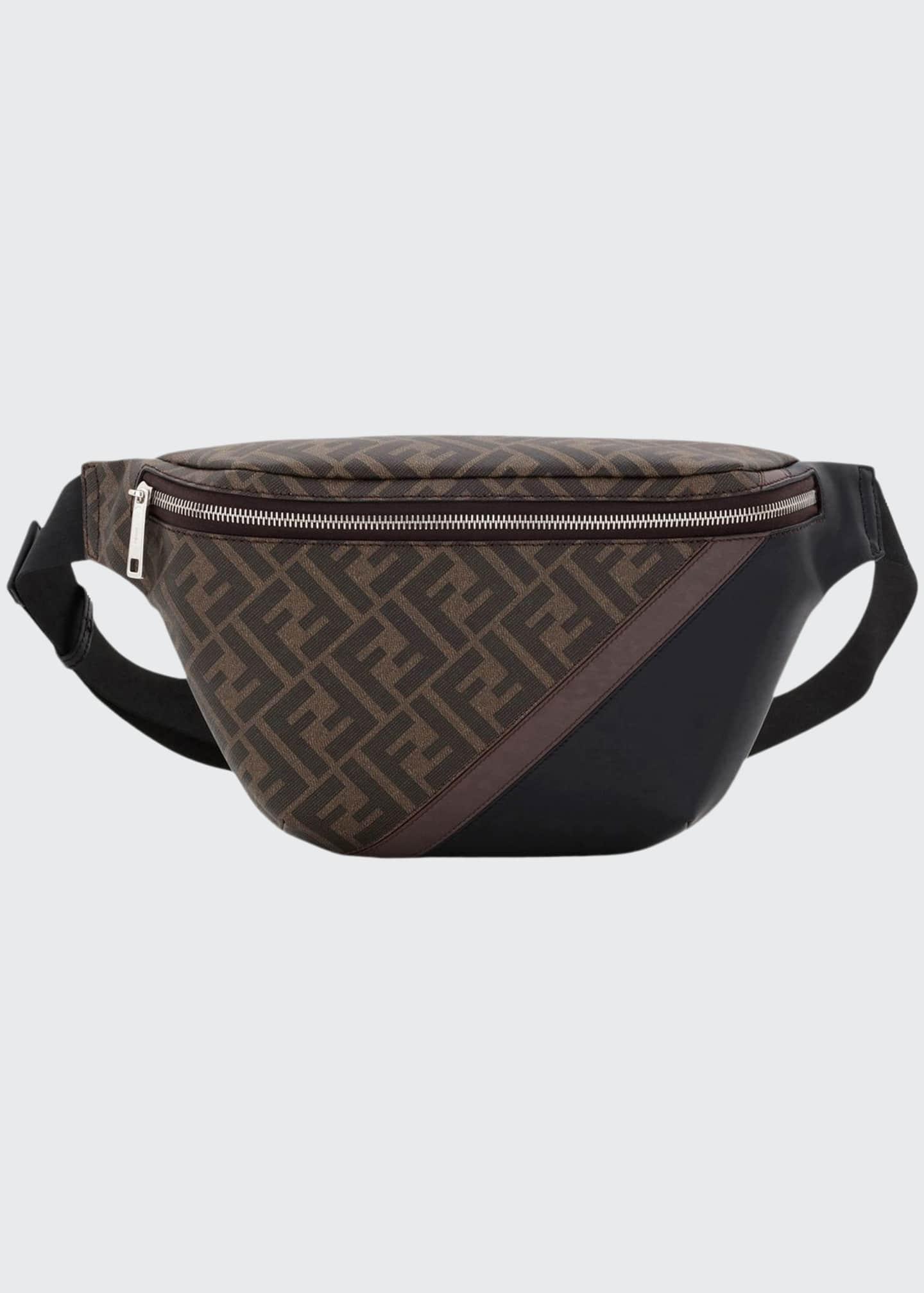 Fendi Men's FF Logo-Pattern Belt Bag