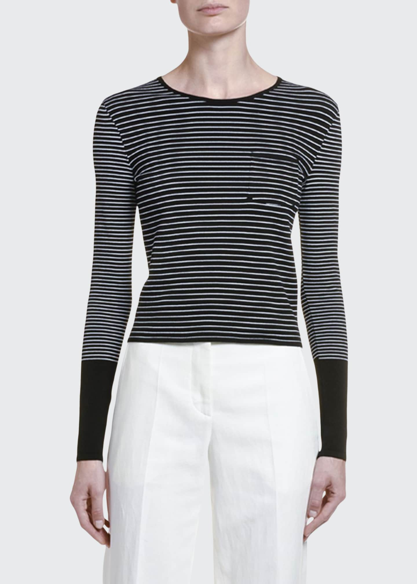 Image 1 of 2: Colorblocked Striped Sweater