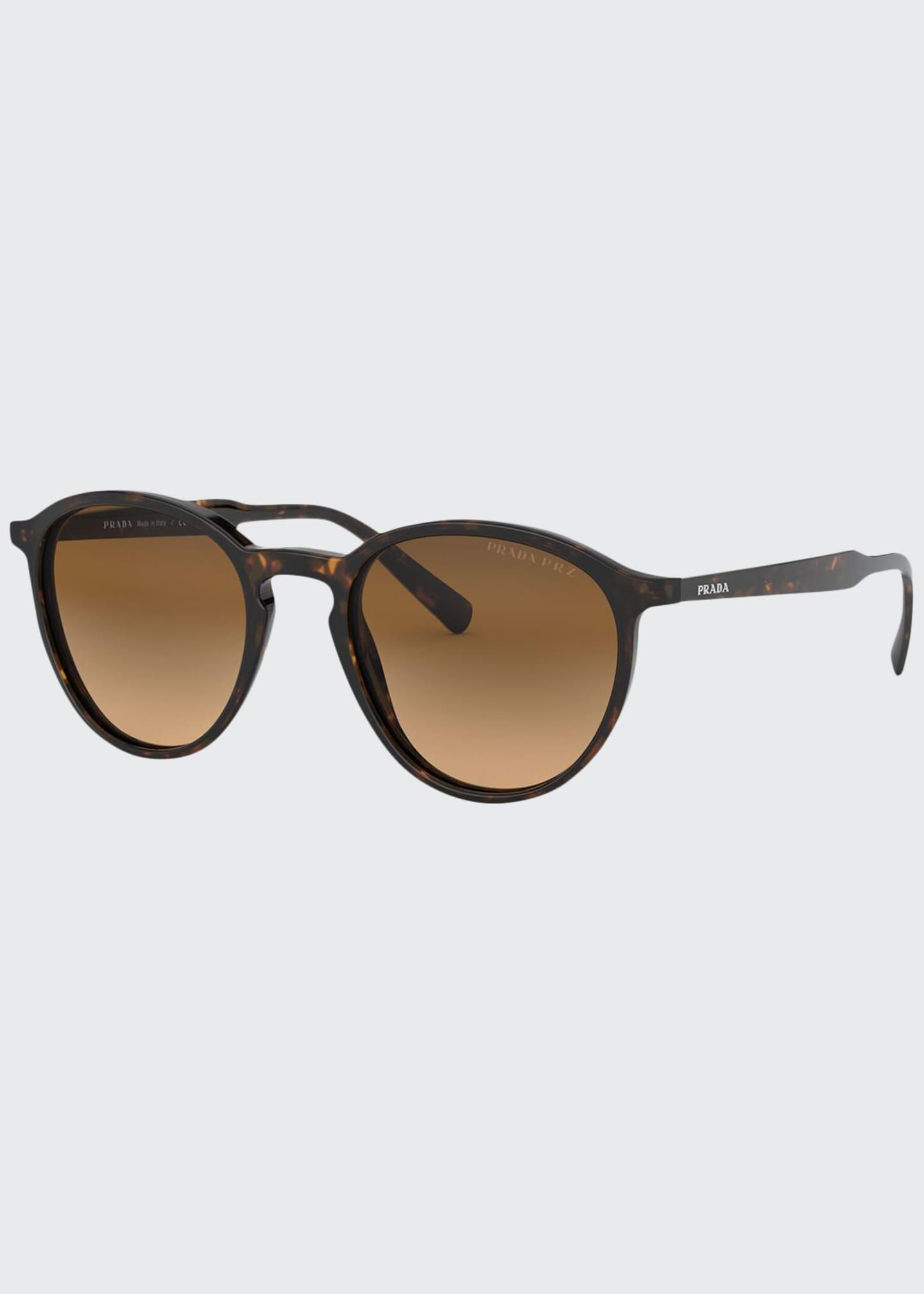 Prada Round Gradient Acetate Sunglasses