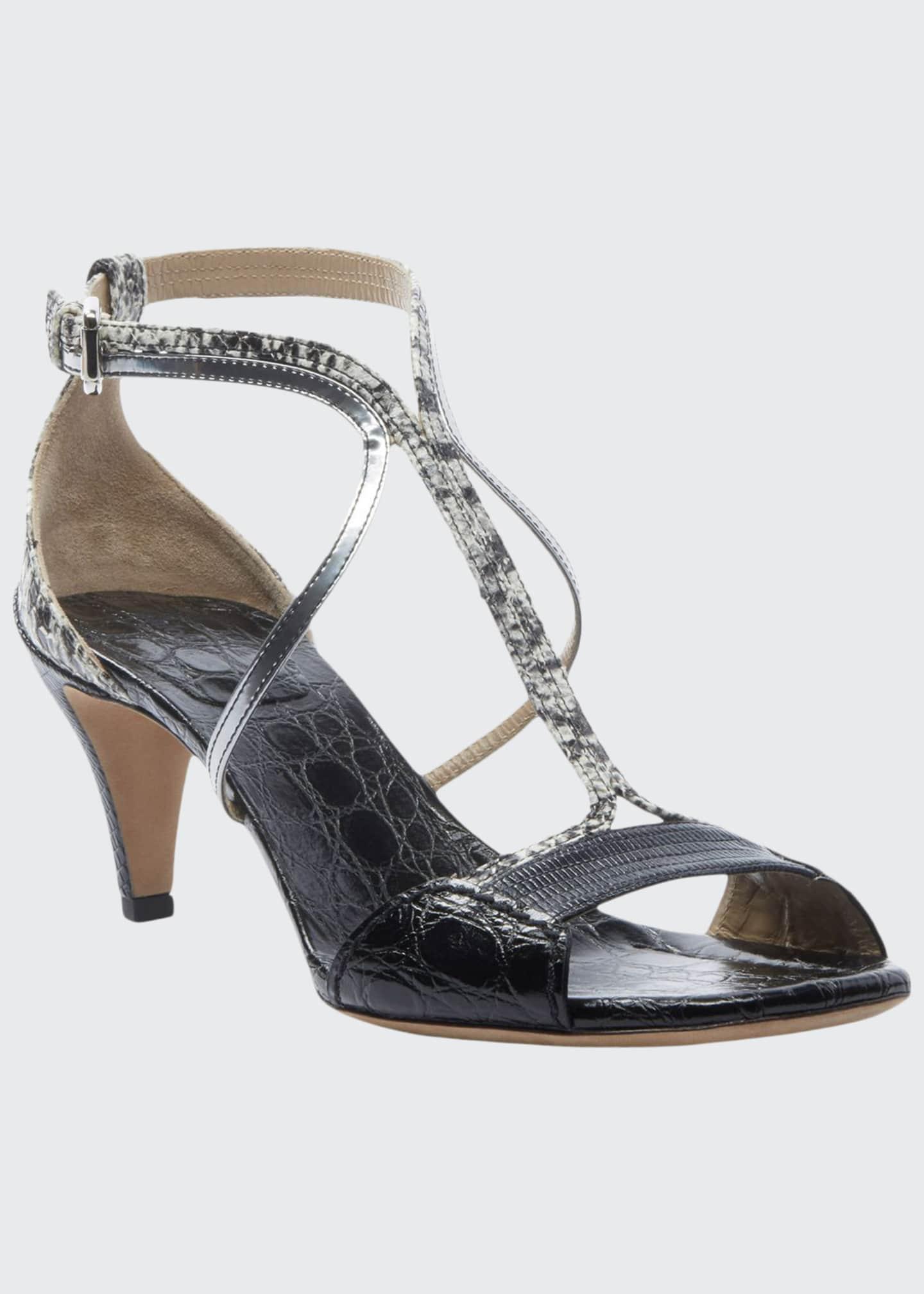 Chloe Carla Snakeskin Strappy Sandals