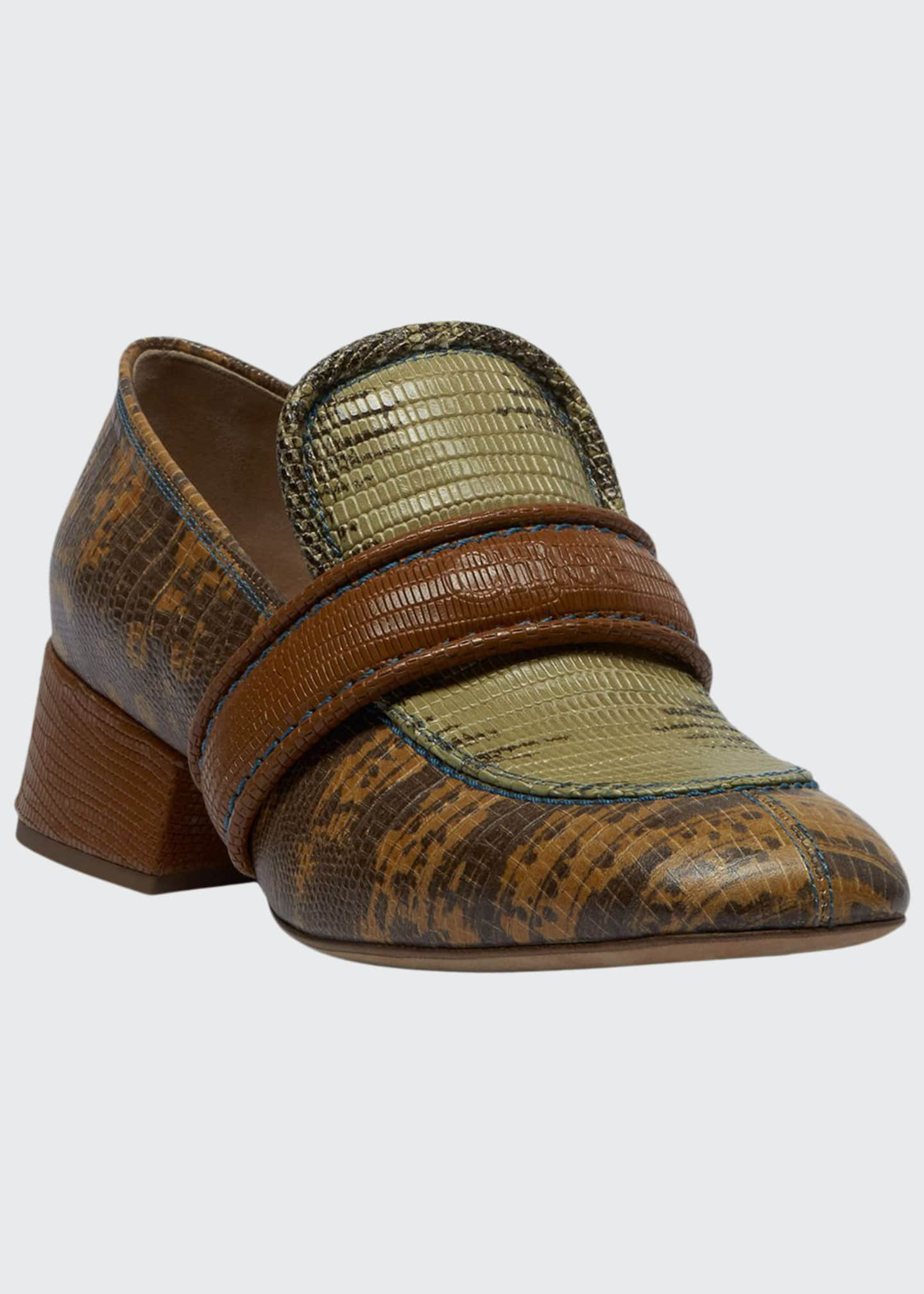 Chloe Cheryl Short Exotic Loafers