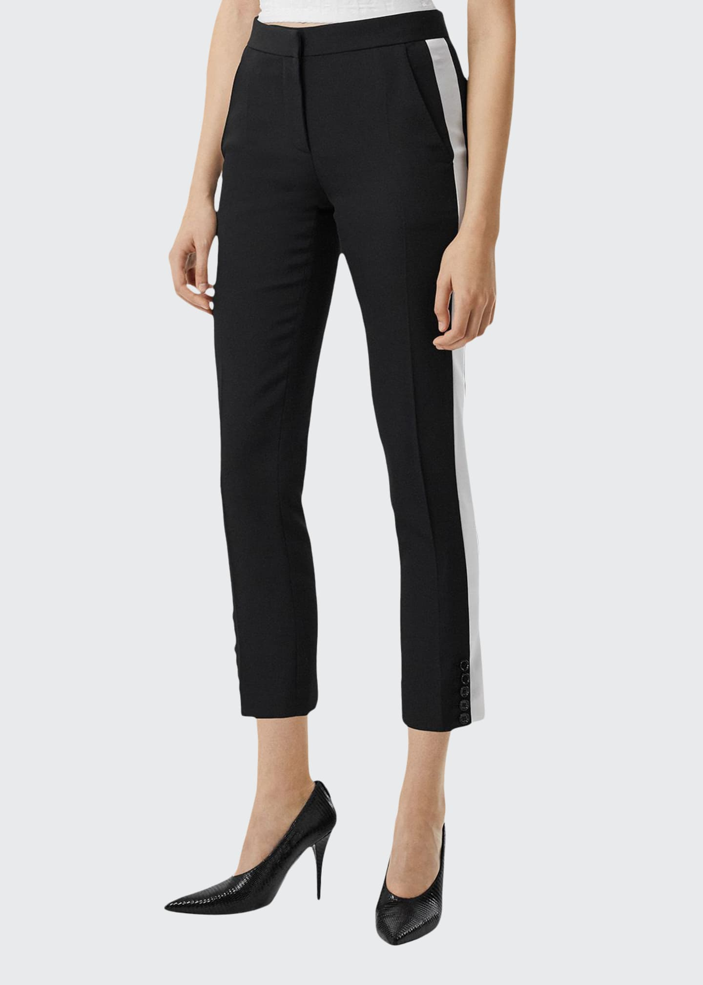 Burberry Hanover Wool Cigarette Trousers