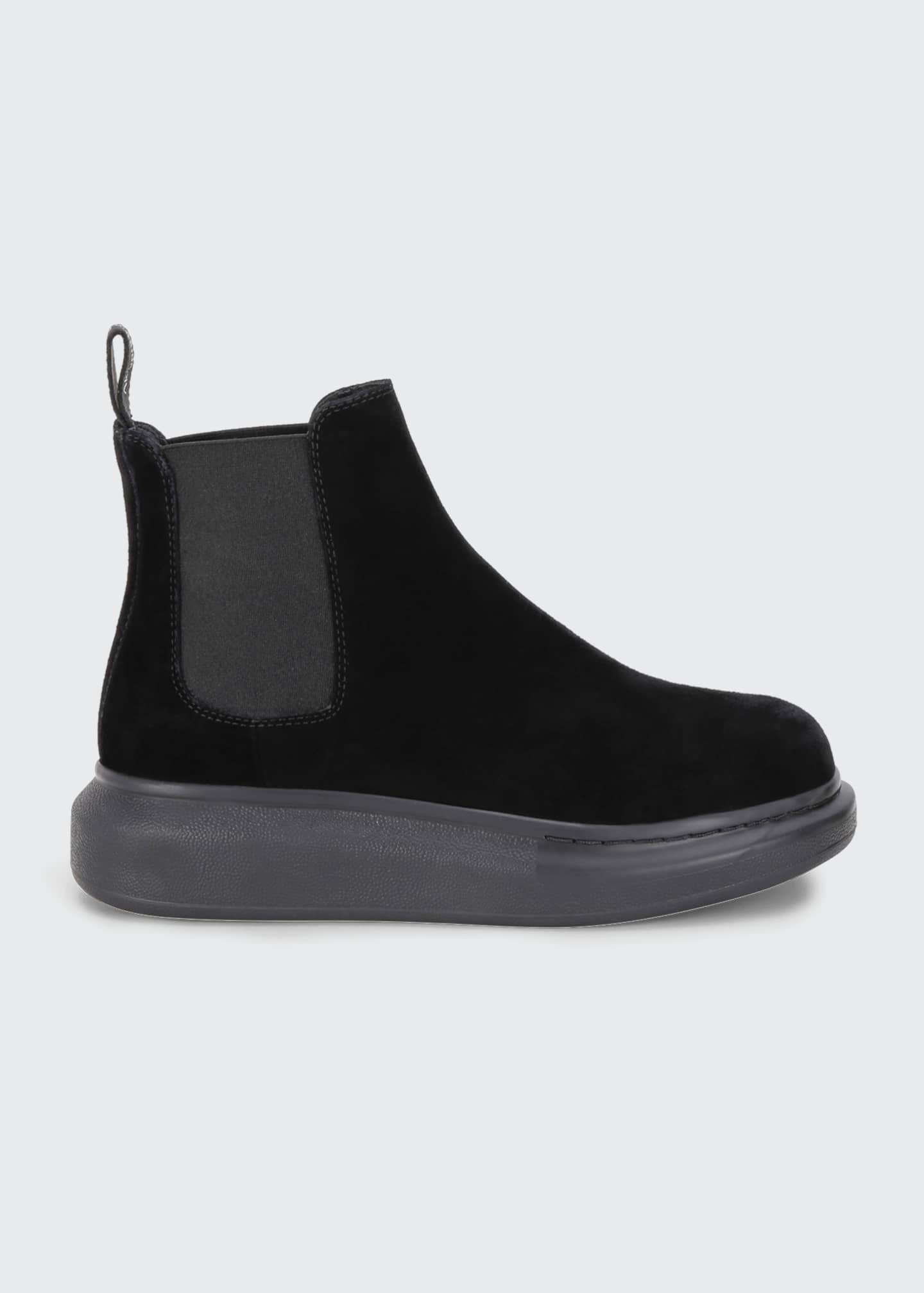 Alexander McQueen Oversized Gore Short Boots