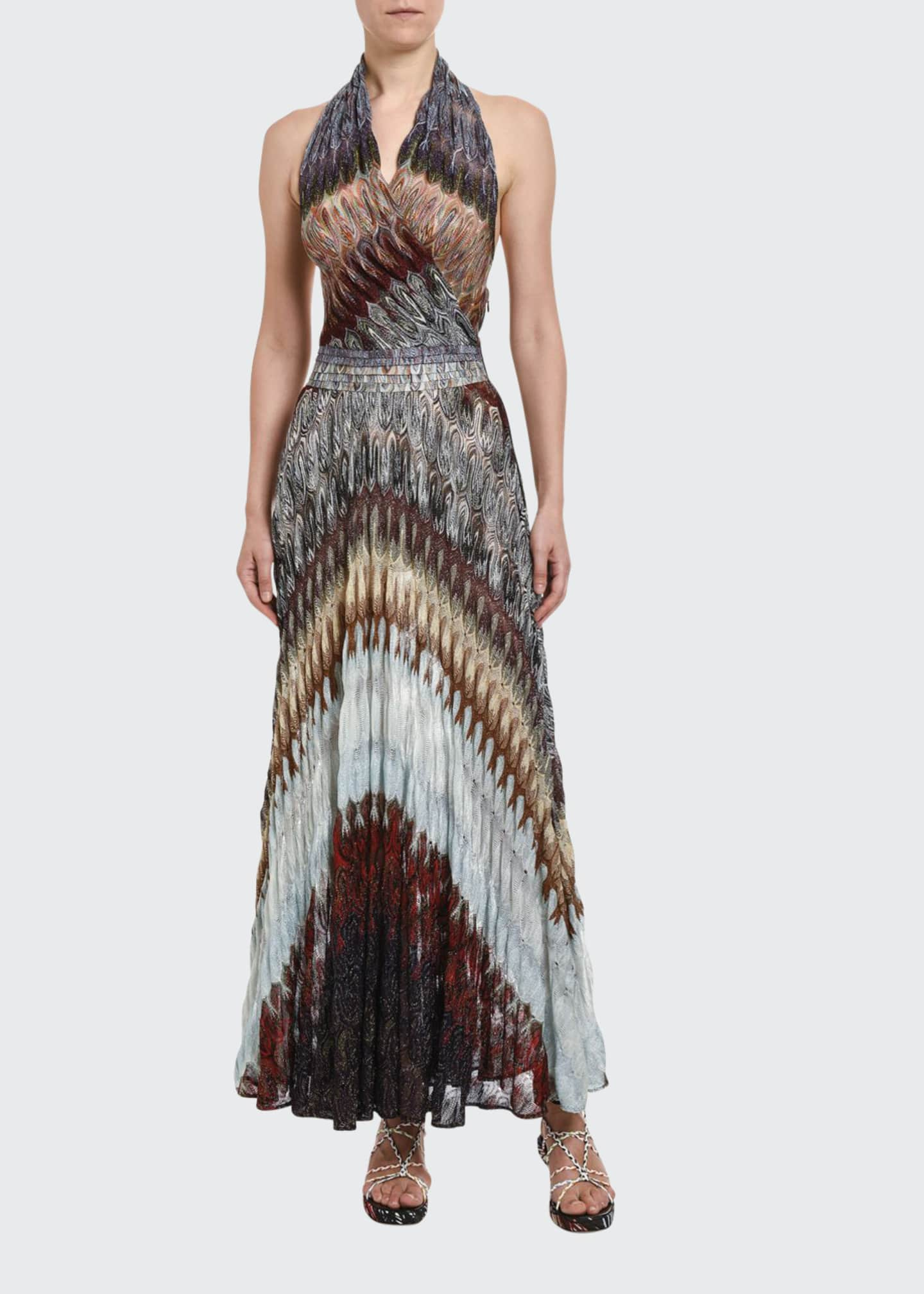 Missoni Diagonal Midi Halter Dress
