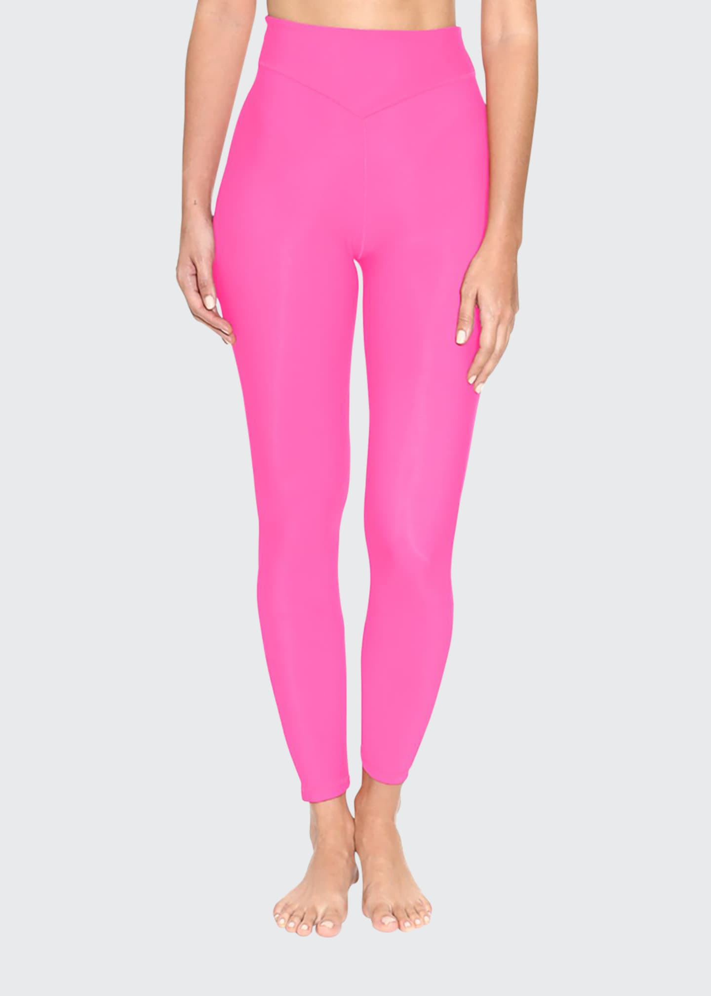 Adam Selman Sport Plunge High-Waist Leggings