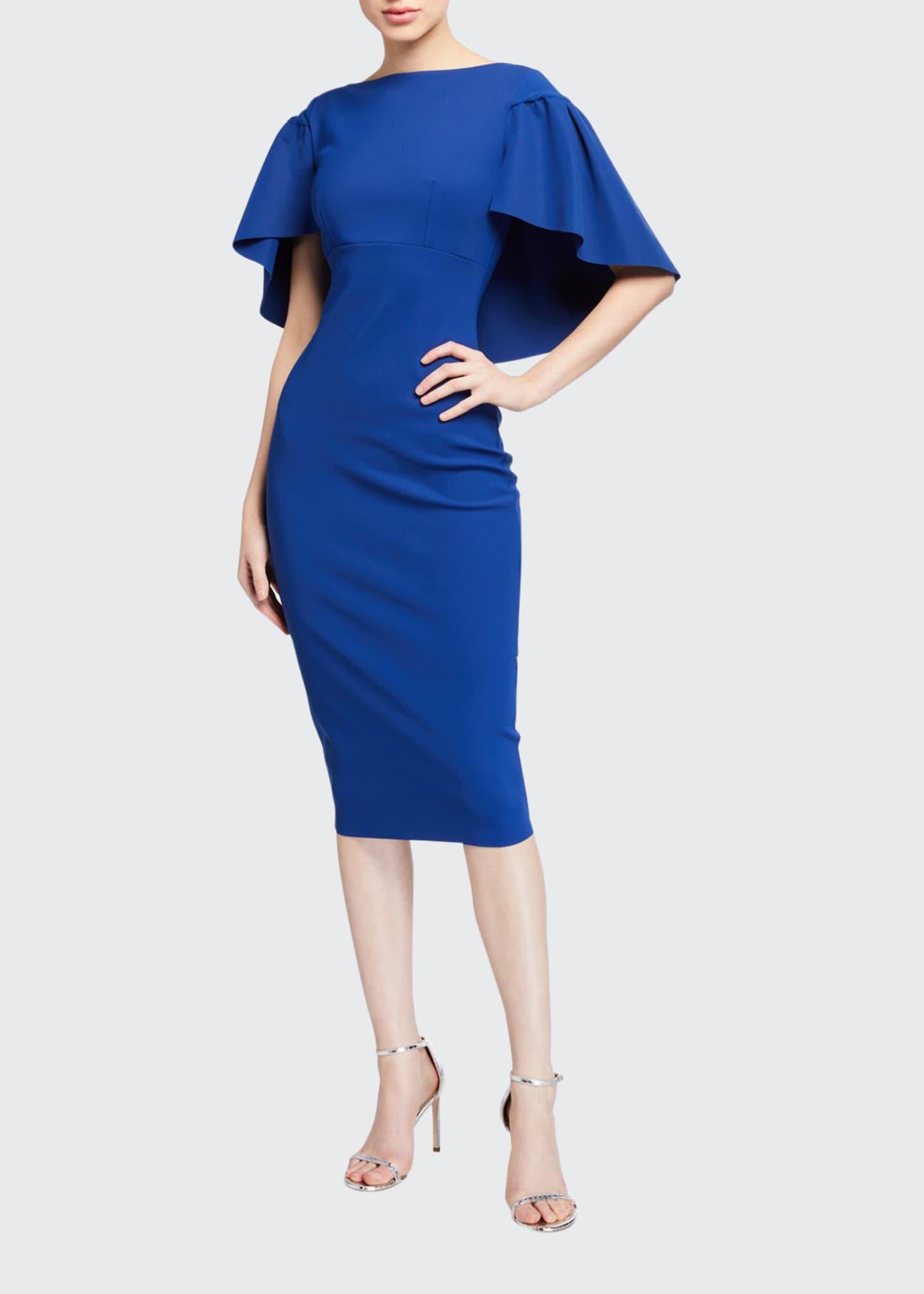 Chiara Boni La Petite Robe High-Neck Short-Sleeve Cape