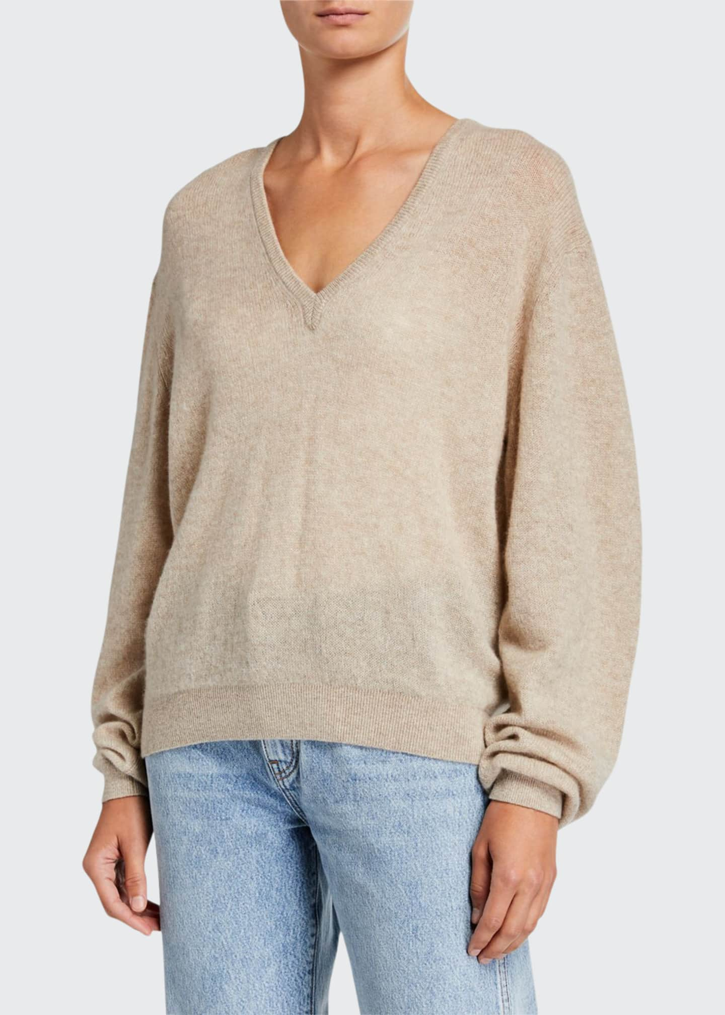 Image 1 of 2: Sam Cashmere V-Neck Sweater