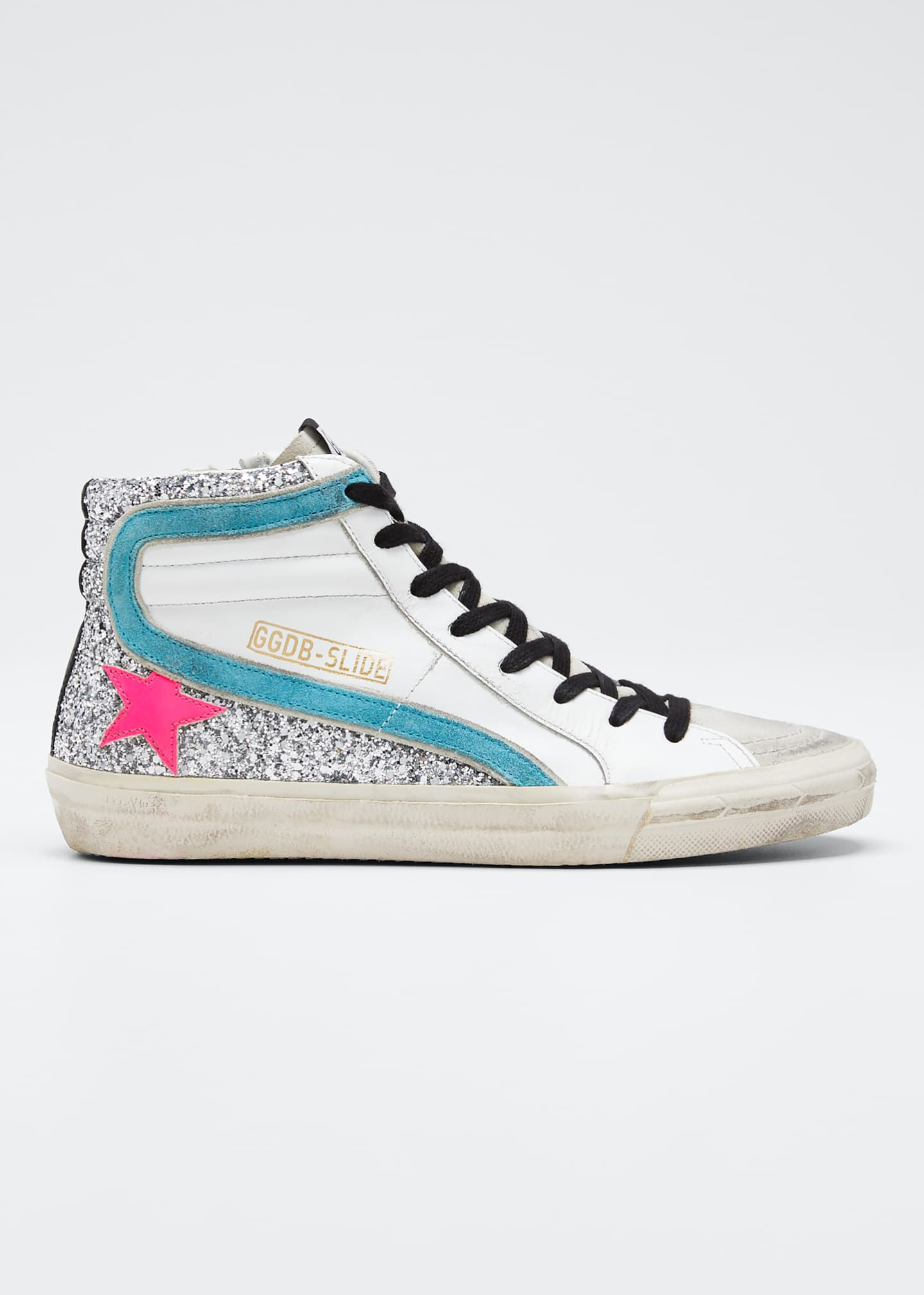 Golden Goose Slide High-Top Zip Sneakers