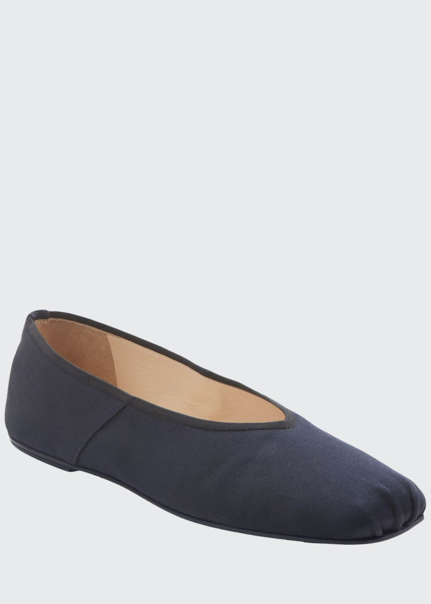 Image 1 of 3: Canvas Ballet Flats