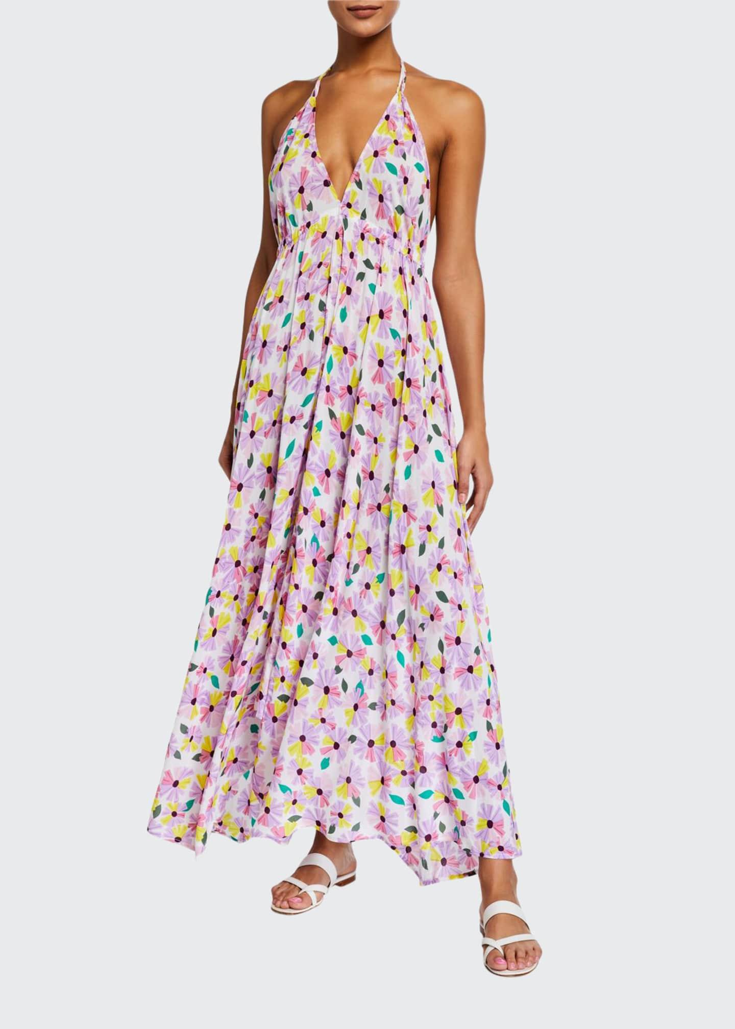 kate spade new york floral halter maxi dress