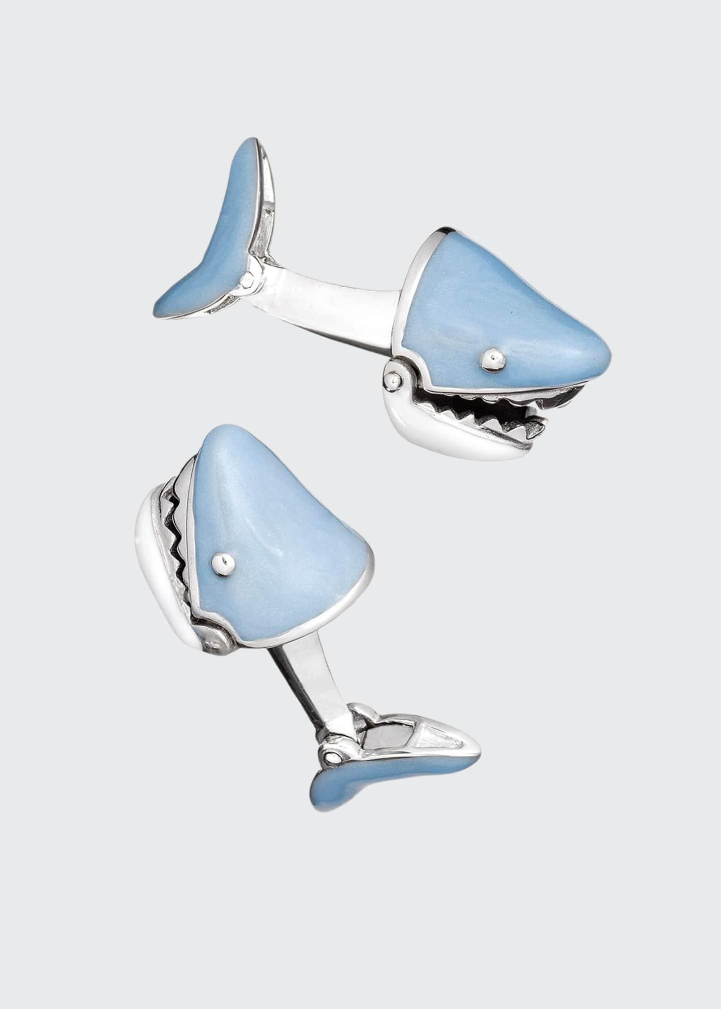 Jan Leslie Movable Shark Face Cuff Links