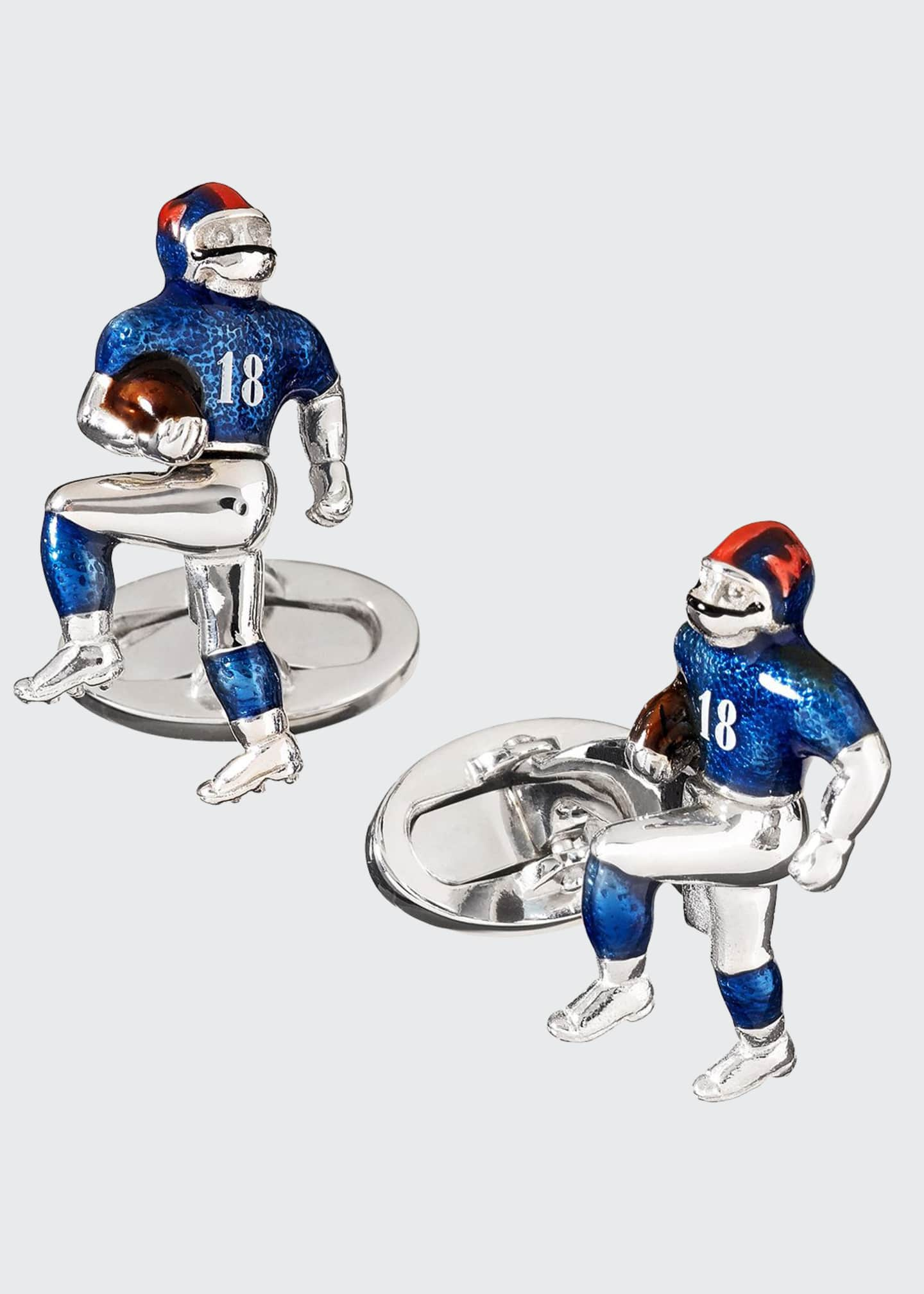 Image 1 of 1: Men's Football Player Moving Cufflinks